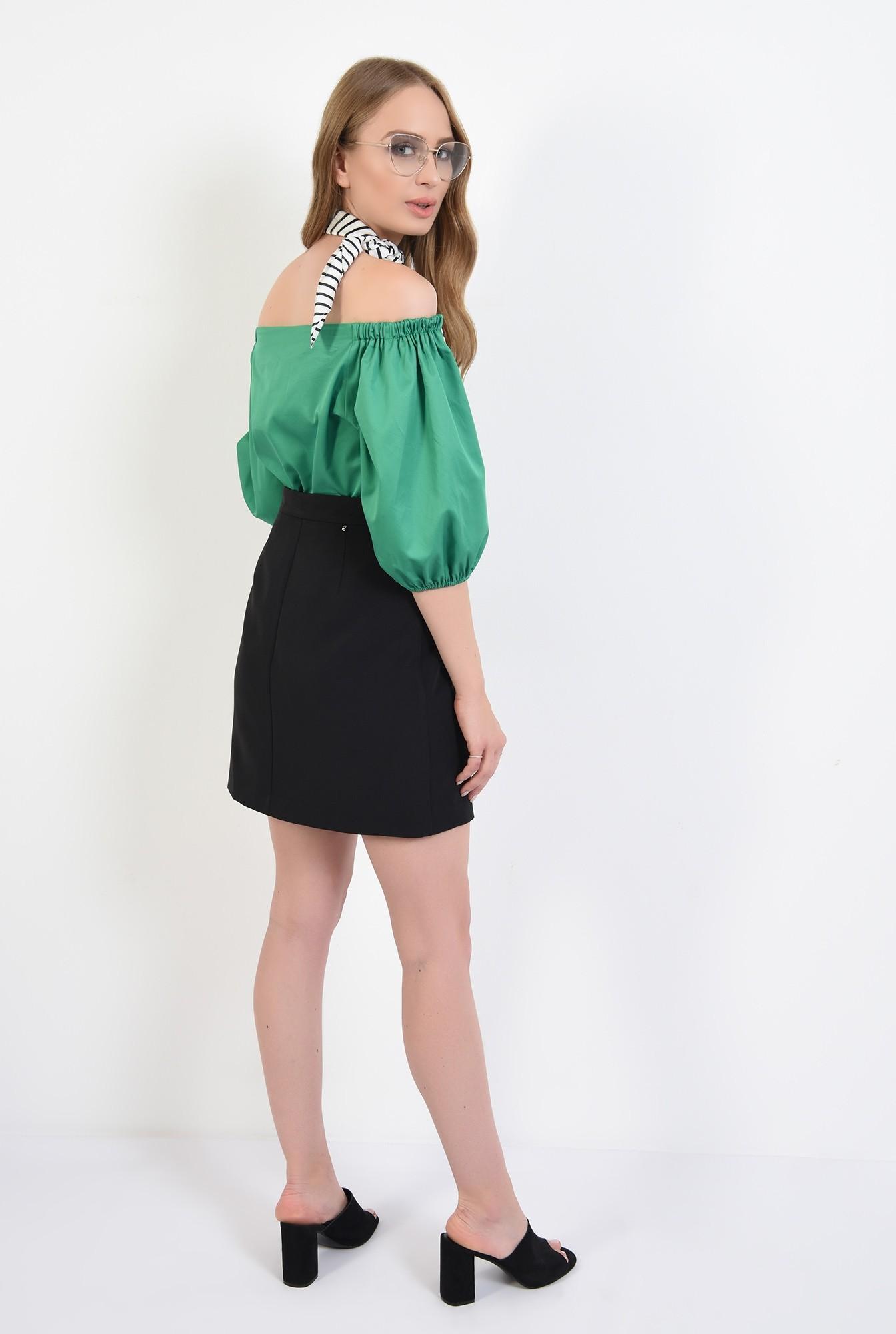 1 - 360 - bluza din bumbac, cu nasturi, verde, Poema