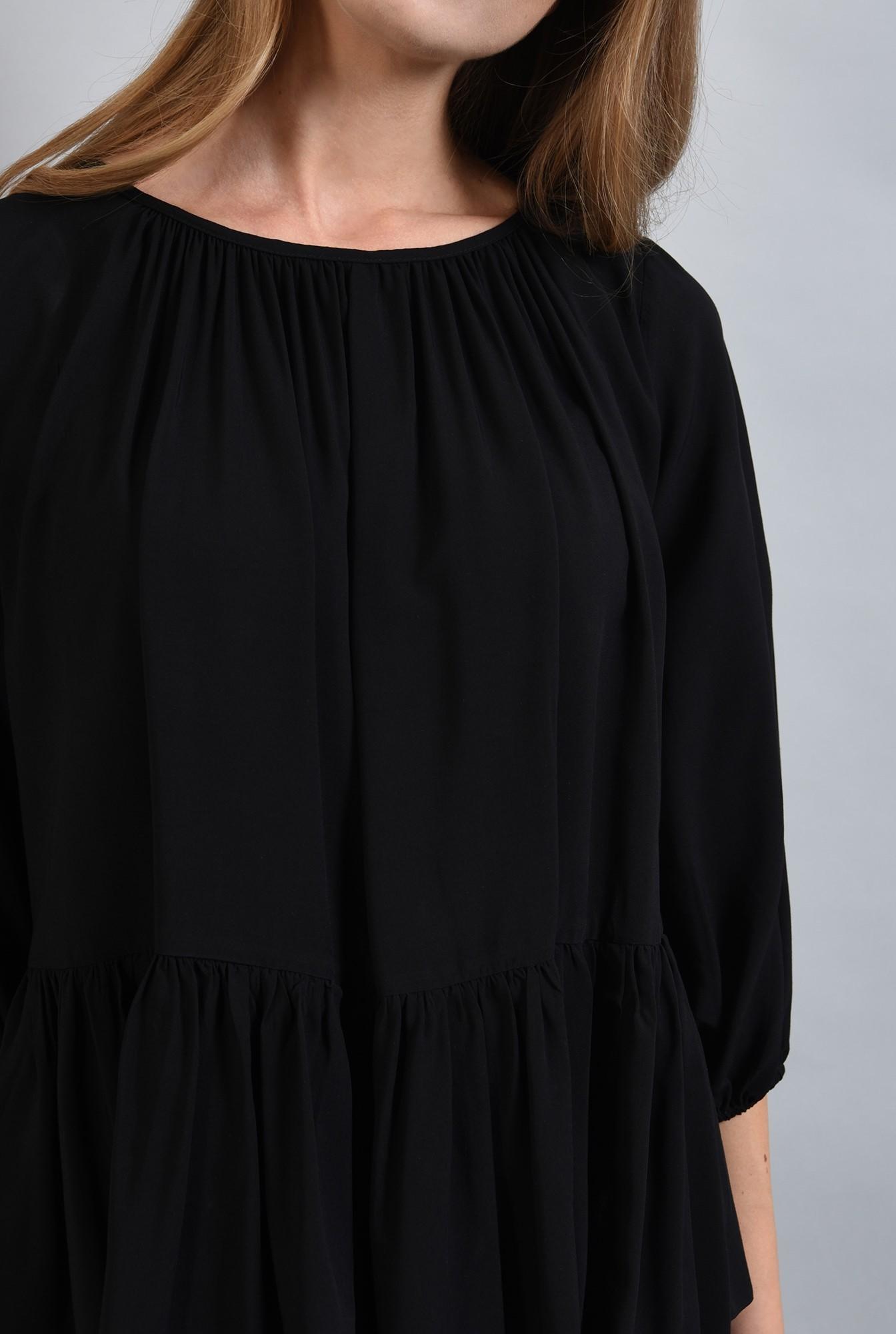 2 - 360 - bluza neagra cu peplum, maneca bufanta, Poema