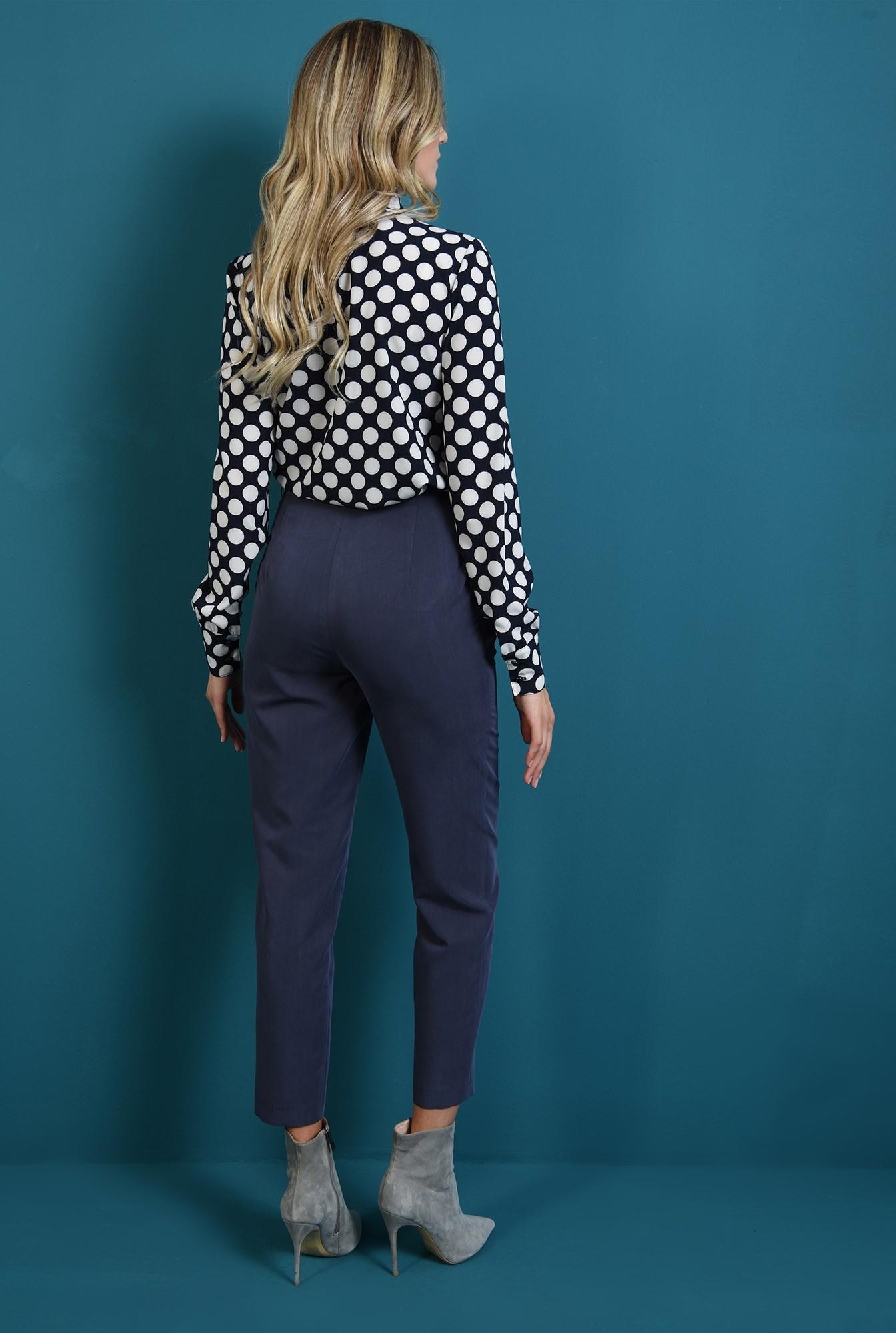 1 - 360 - bluza bleumarin, cu buline, cu maneca lunga