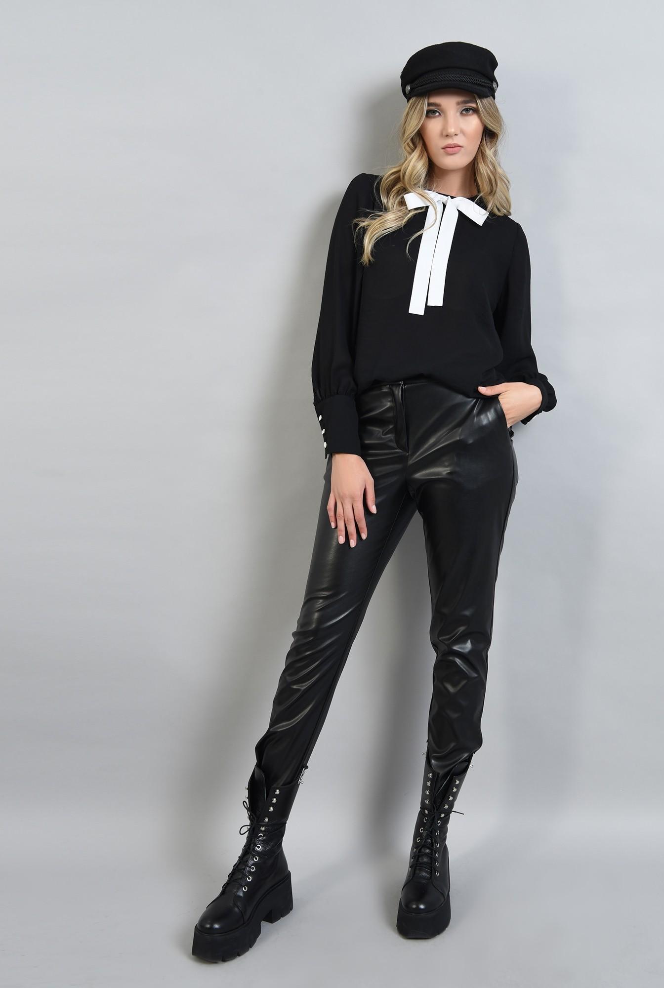 0 - bluza neagra, lejera, cu maneca lunga
