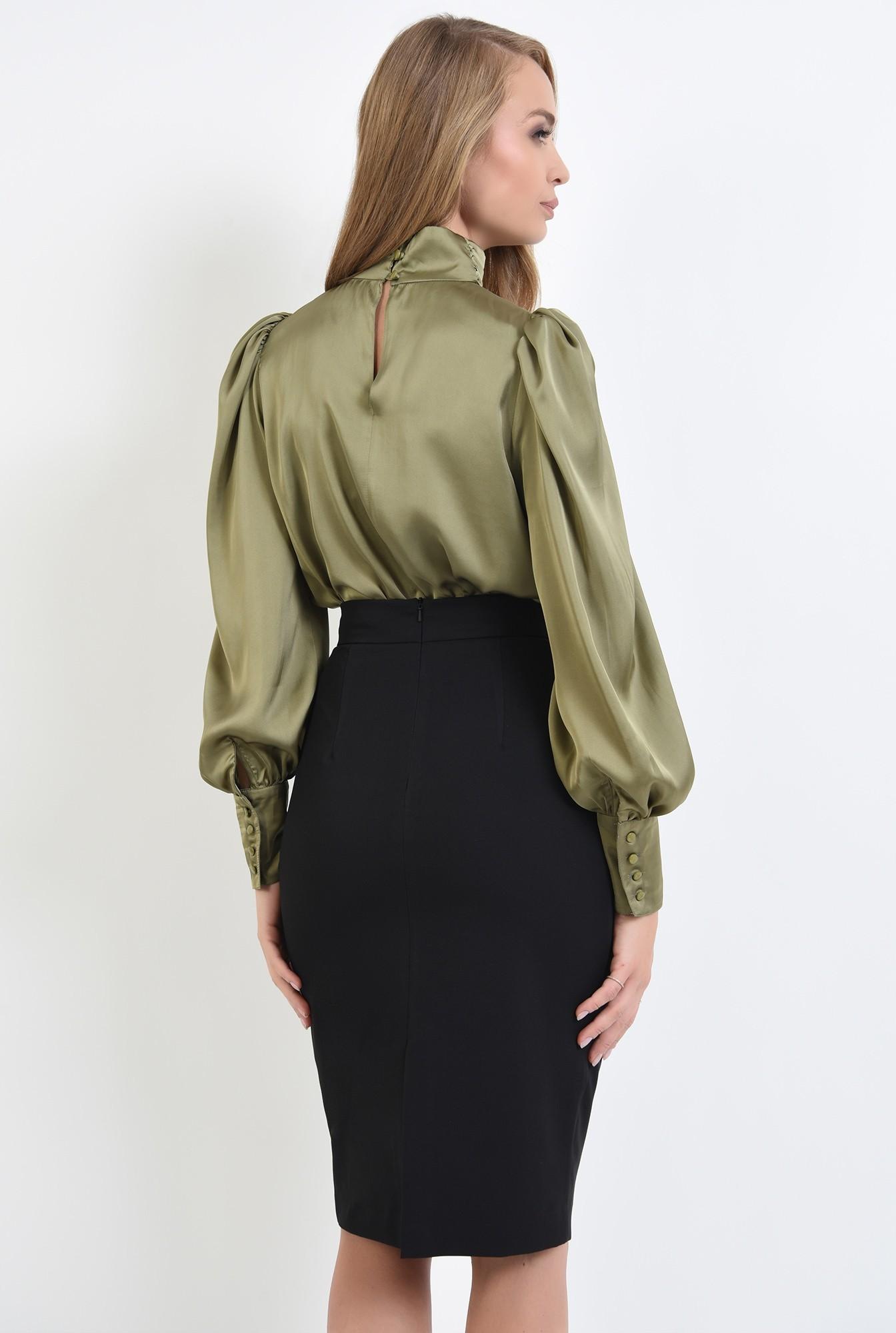 1 - 360 - bluza casual, cu umeri accentuati, cu nasturi la mansete