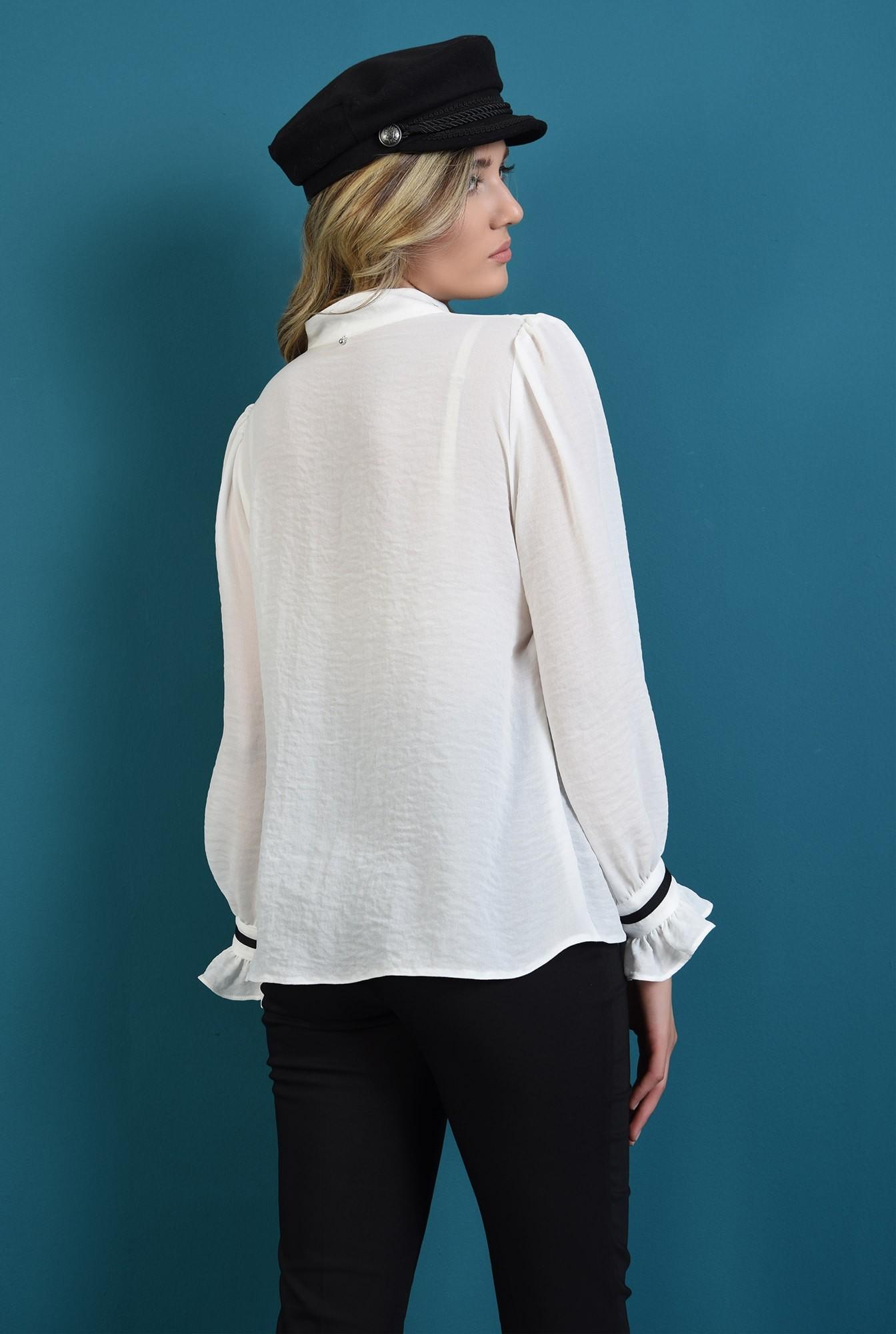 1 - 360 - bluza casual, alba,cu nasturi, Poema