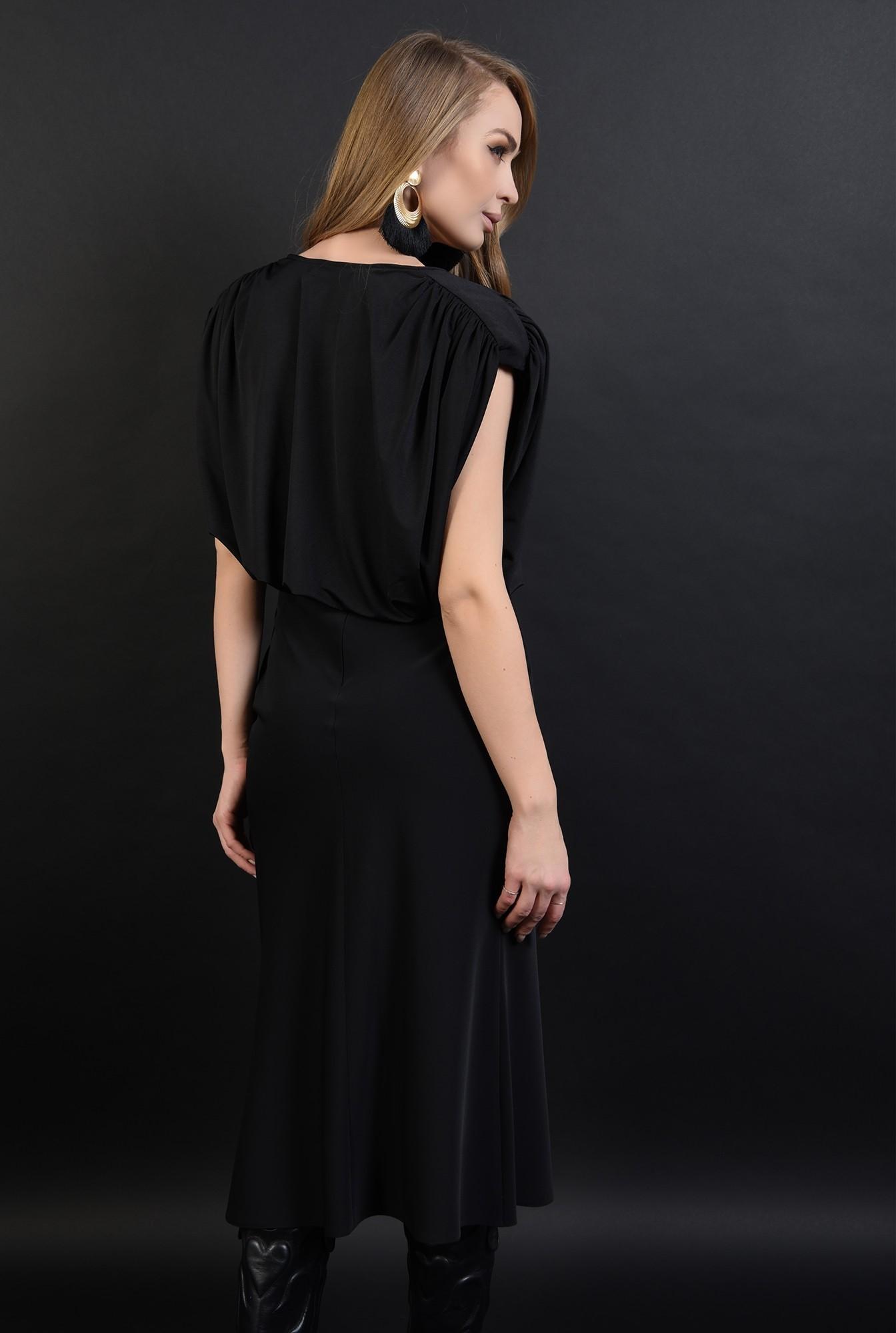 3 - bluza eleganta, neagra, cu umeri mari