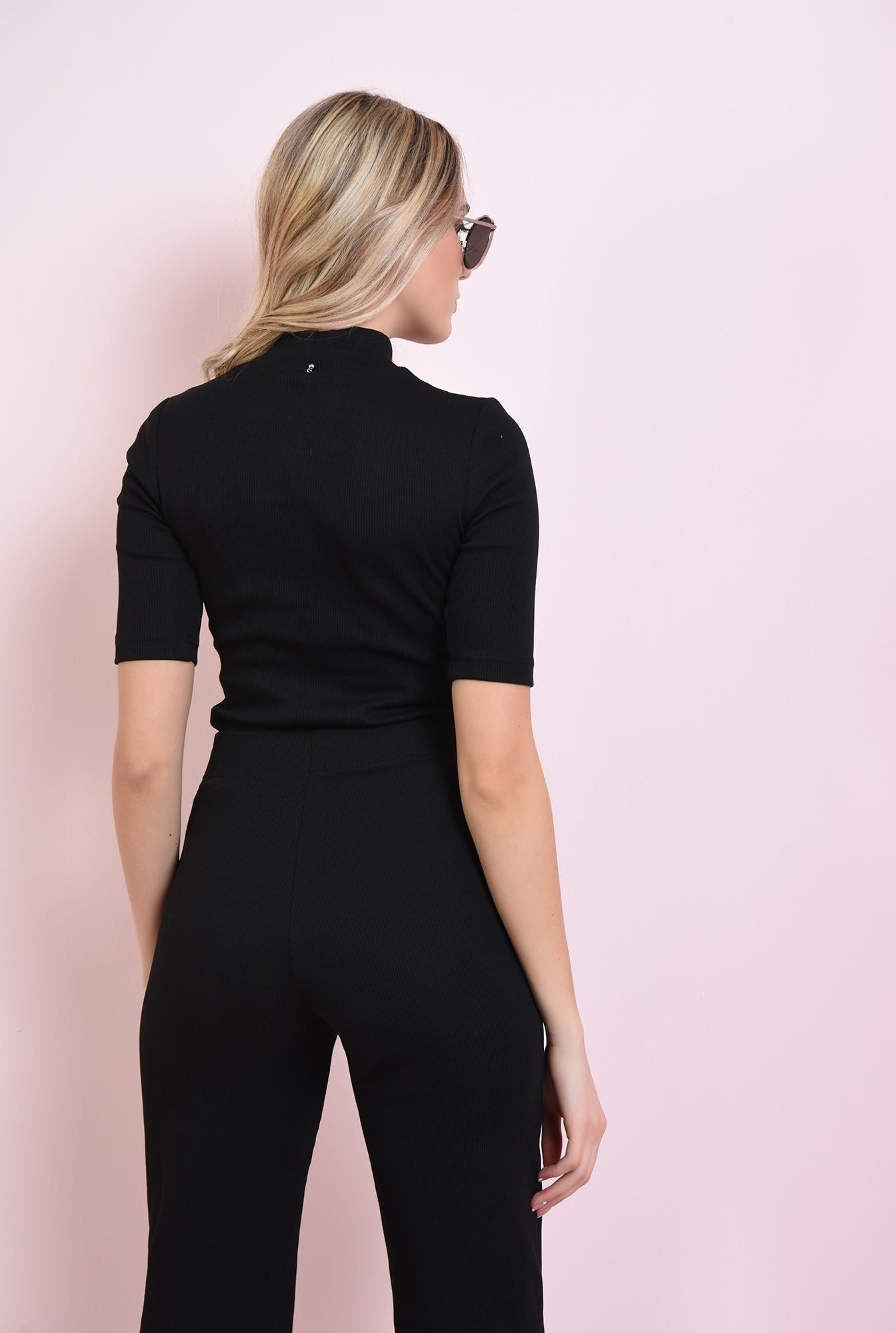 2 - bluza casual, neagra, cu guler, Poema