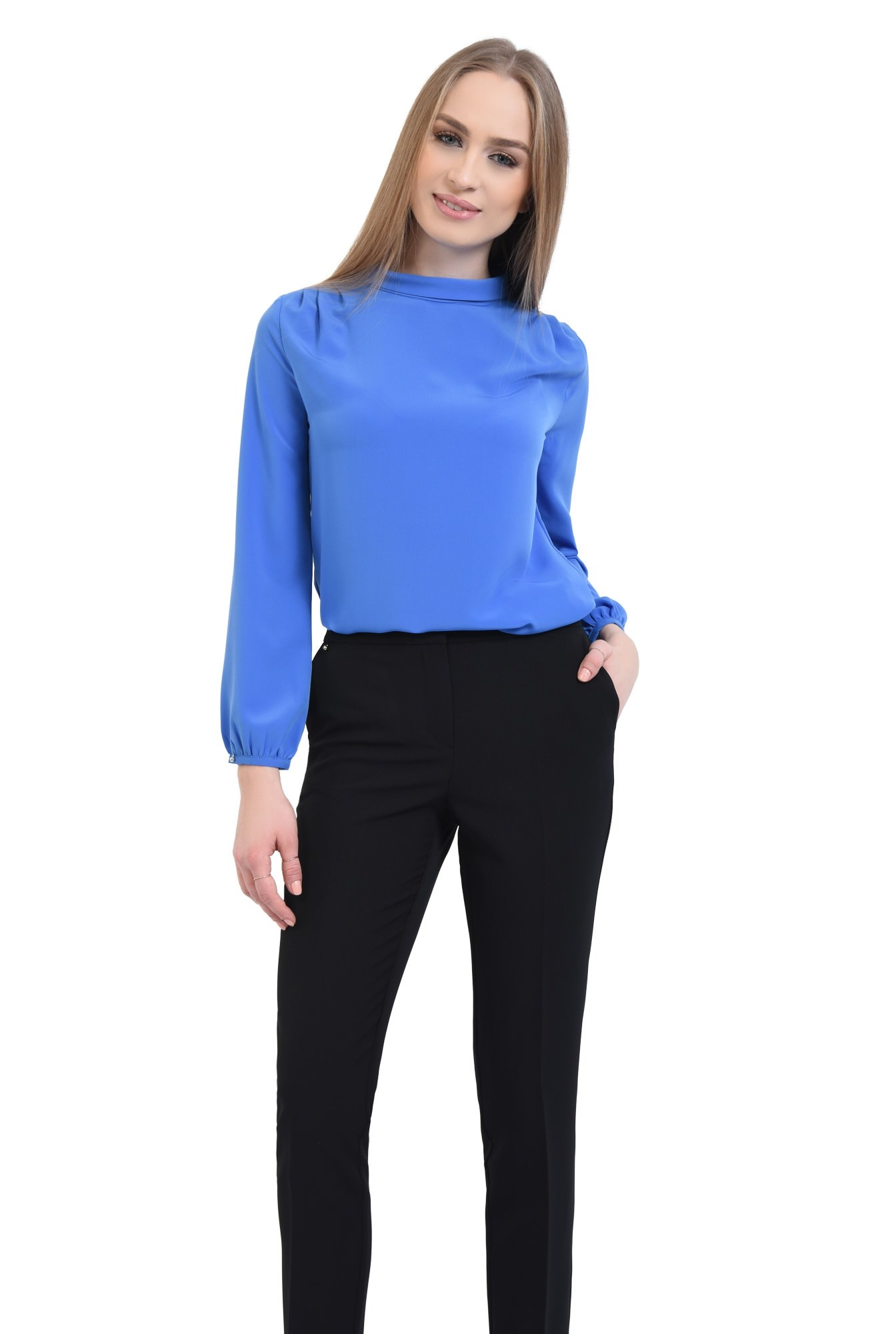 0 - Bluza office, albastru