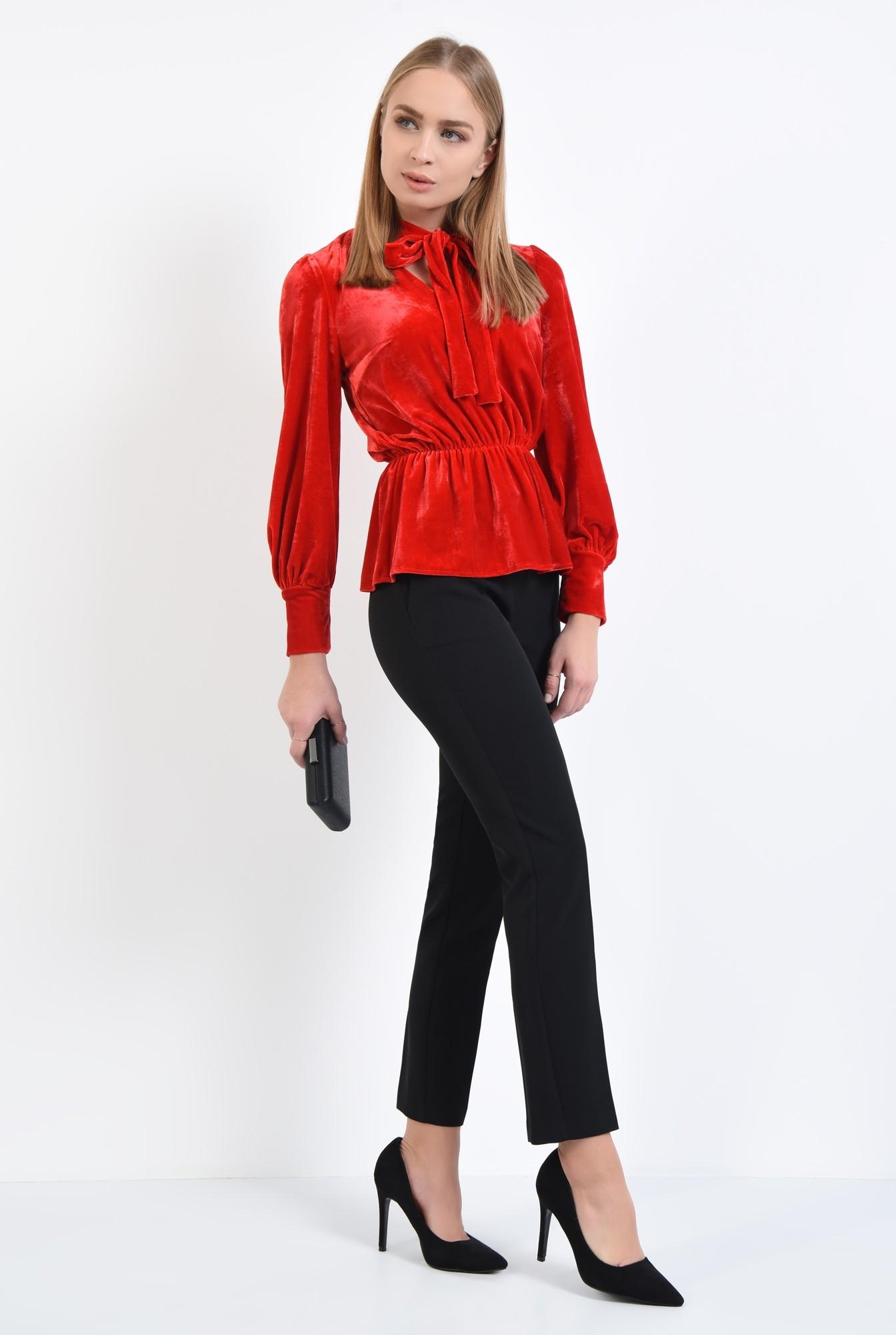 3 - bluza din catifea, rosie, eleganta, bluza dama, online