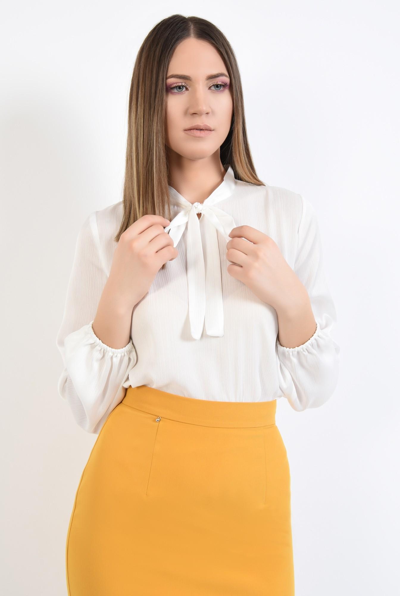 0 - bluza office, cu funda, guler esarfa subtire, bluze de zi