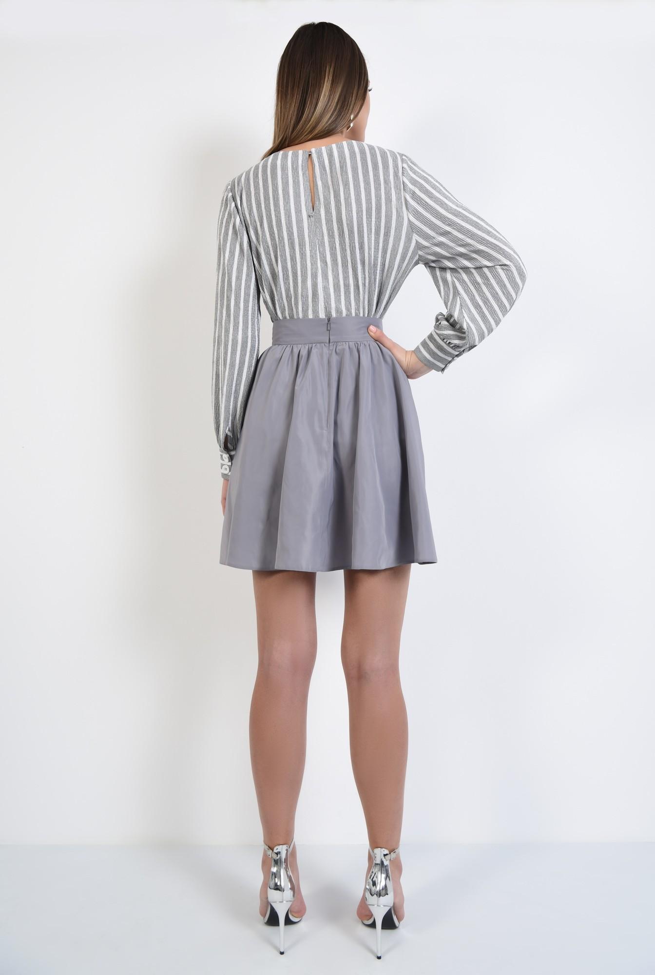 1 - 360 - bluza casual, dreapta, cu imprimeu, dungi alb-gri