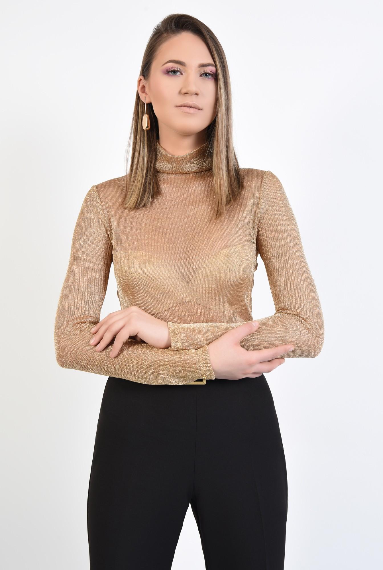 0 - 360 - bluza de ocazie, maleta eleganta, auriu, cu lurex