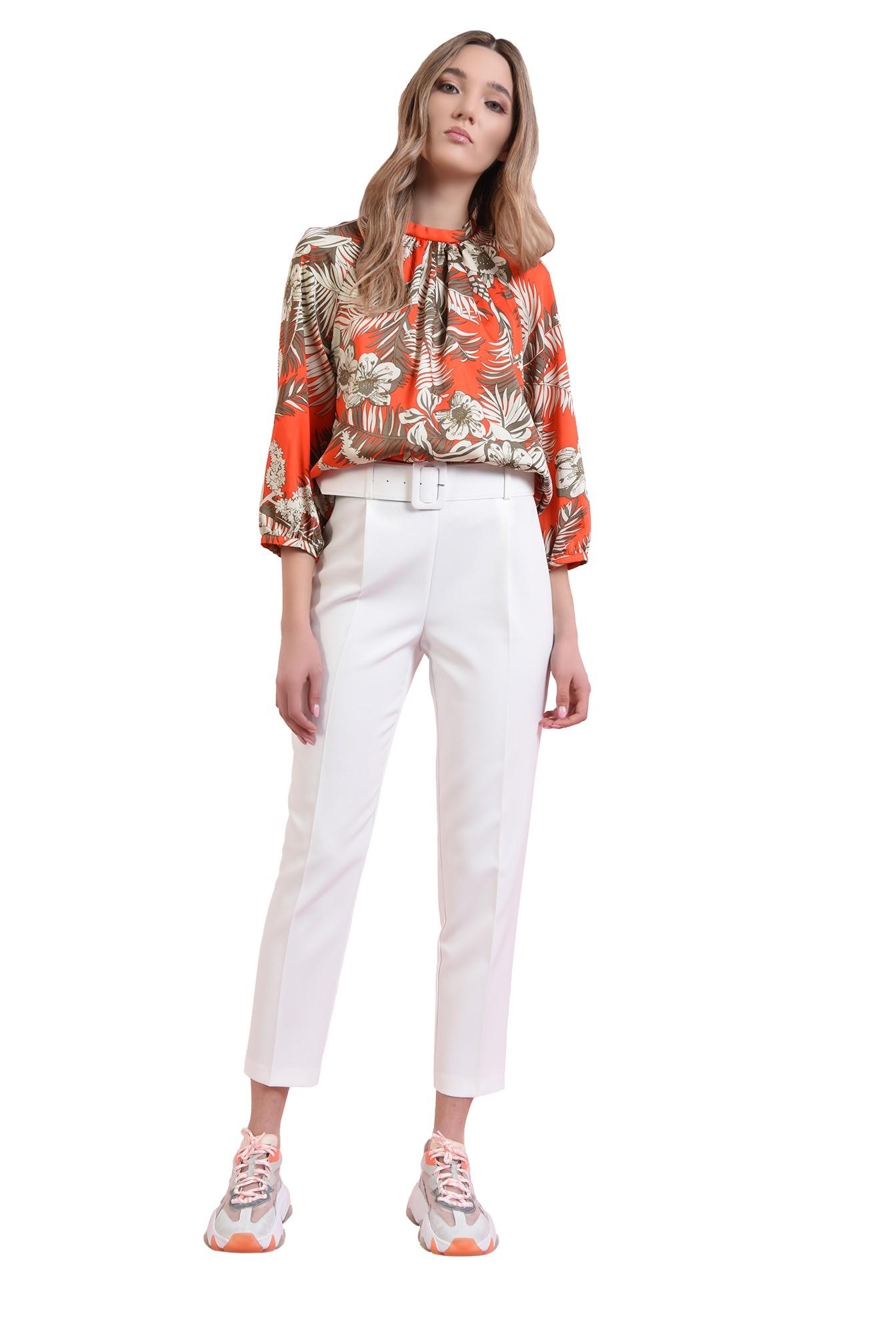 3 - 360 - bluza cu print, cu maneca voluminoasa
