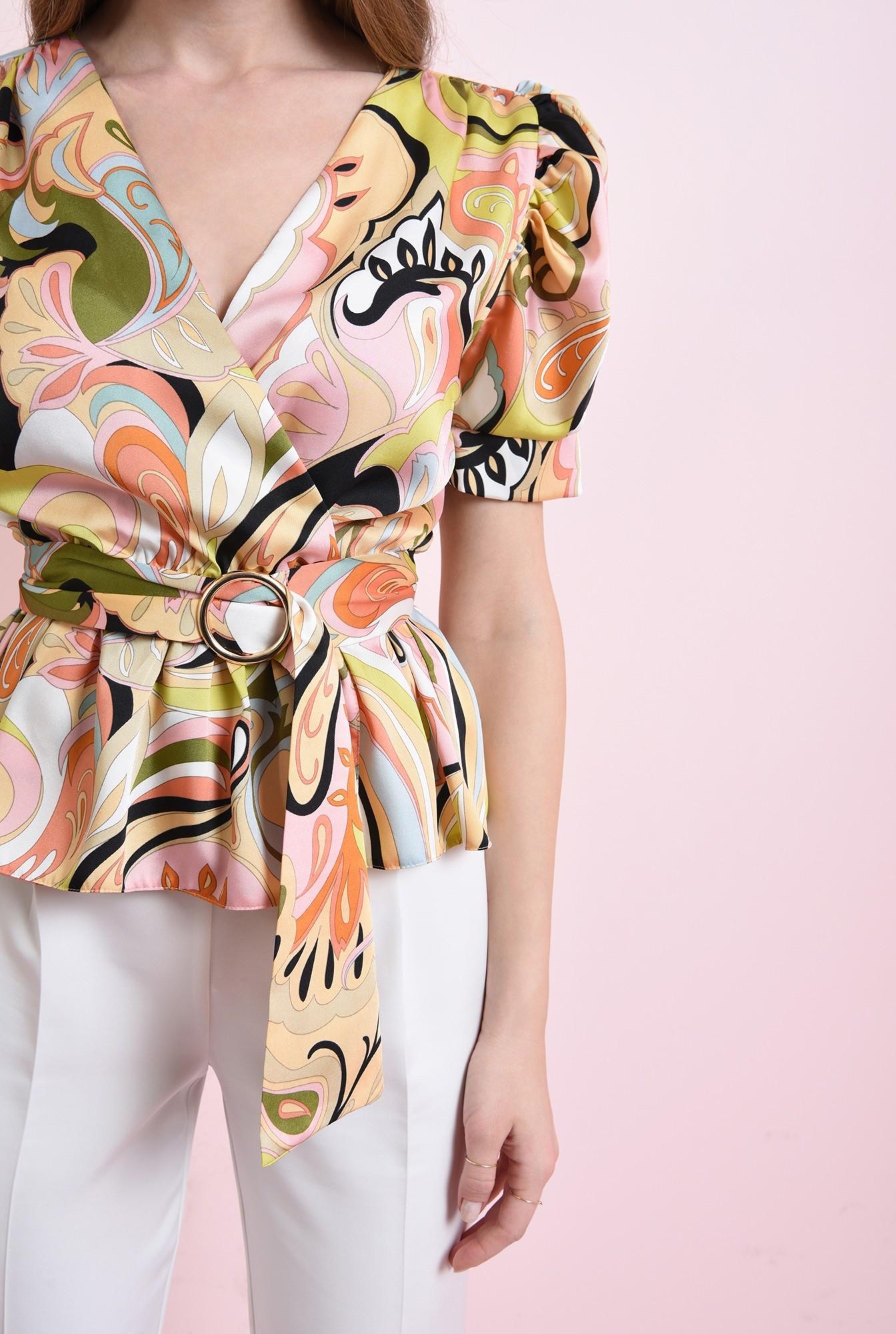 2 - bluza cu print multicolor