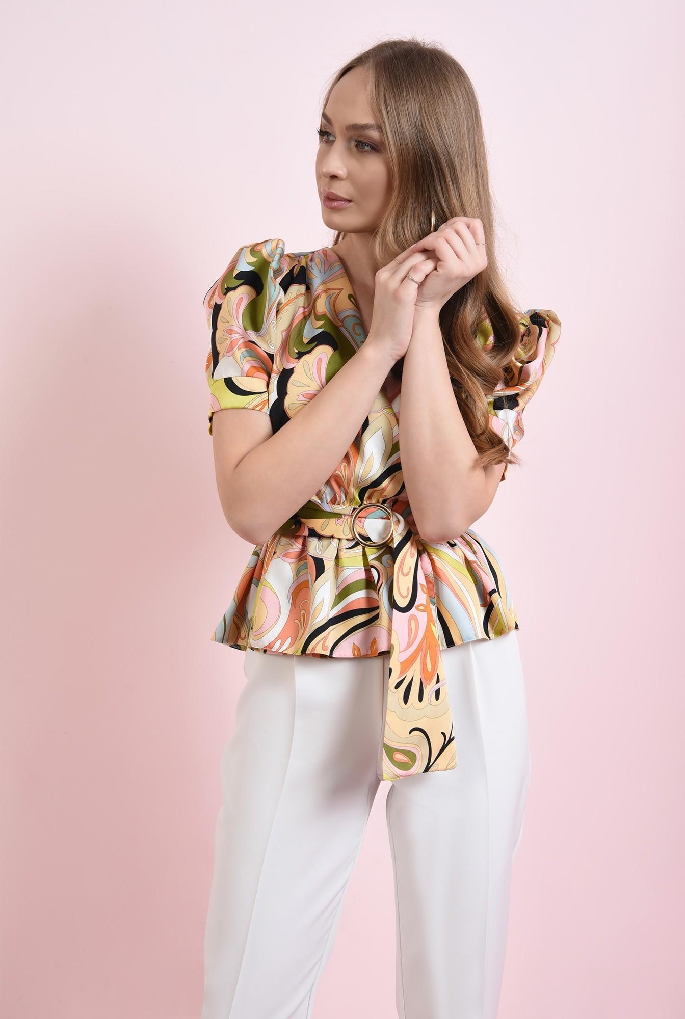 0 - bluza cu print multicolor