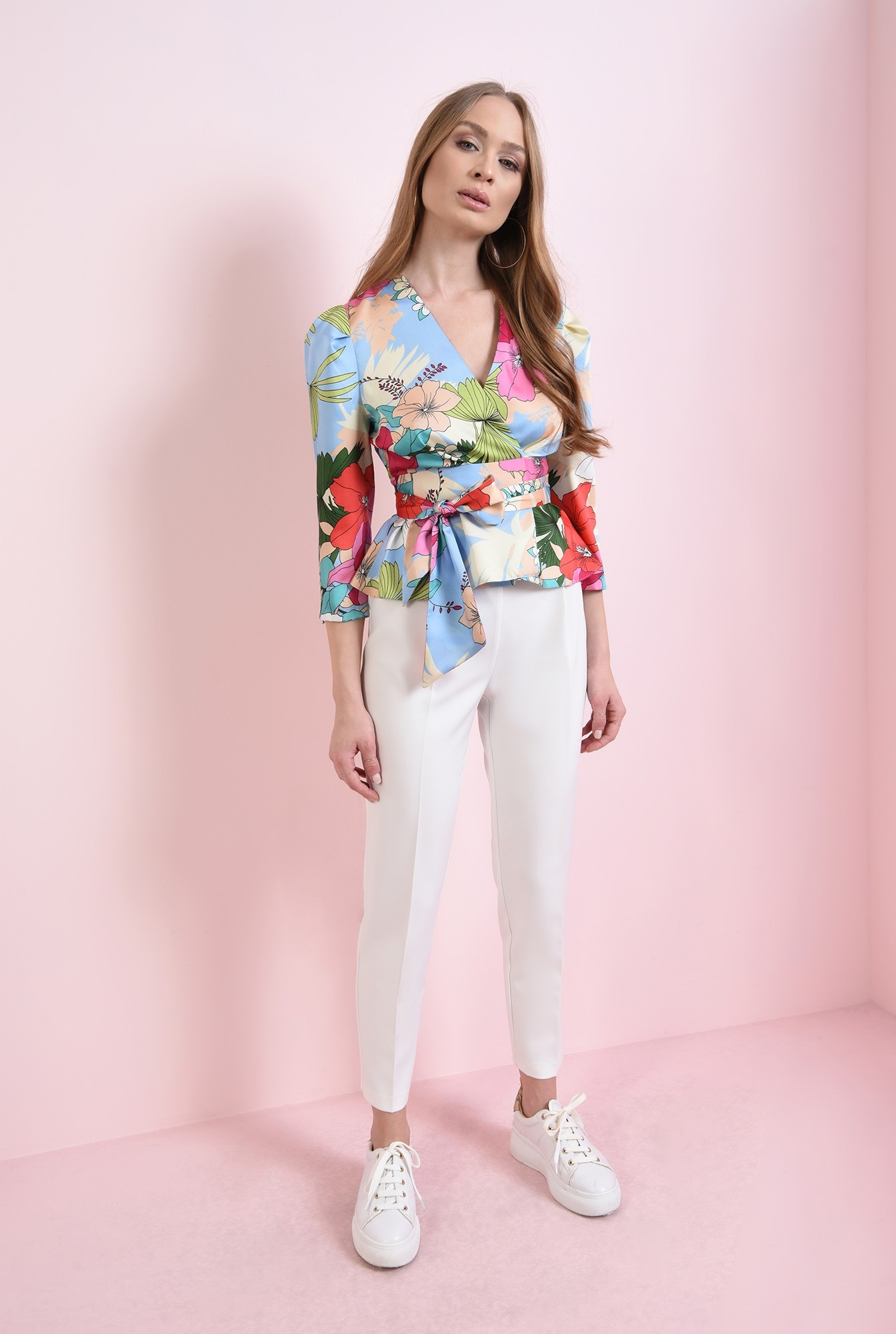 1 - bluza colorata, cu cordon, Poema