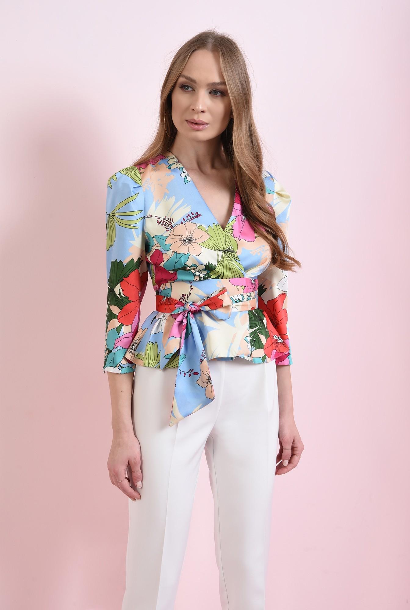 0 - bluza colorata, cu cordon, Poema