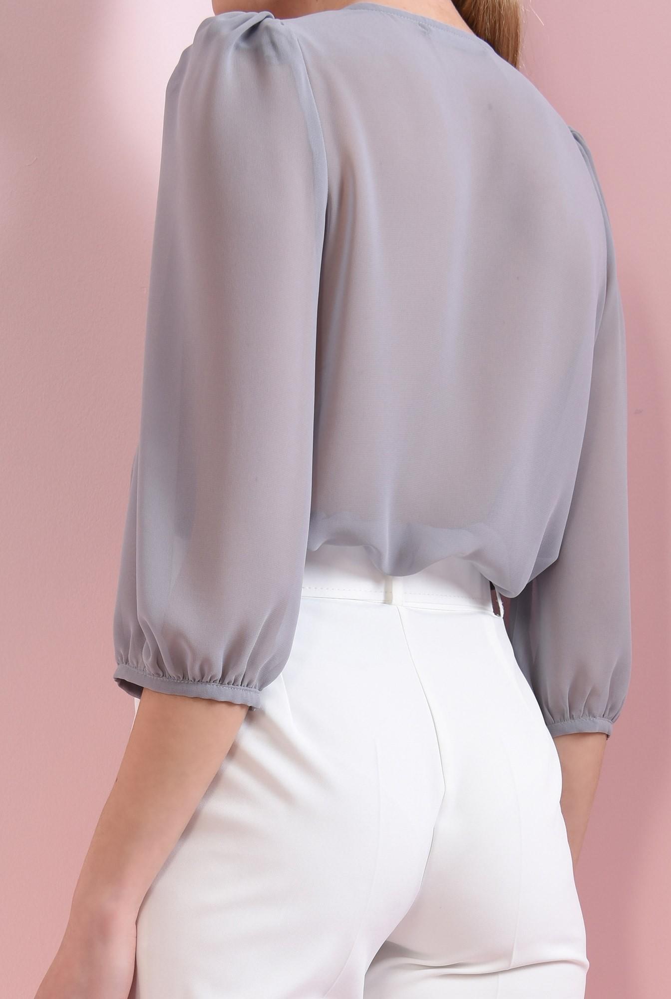 1 - 360 - bluza casual, gri, cu nasture