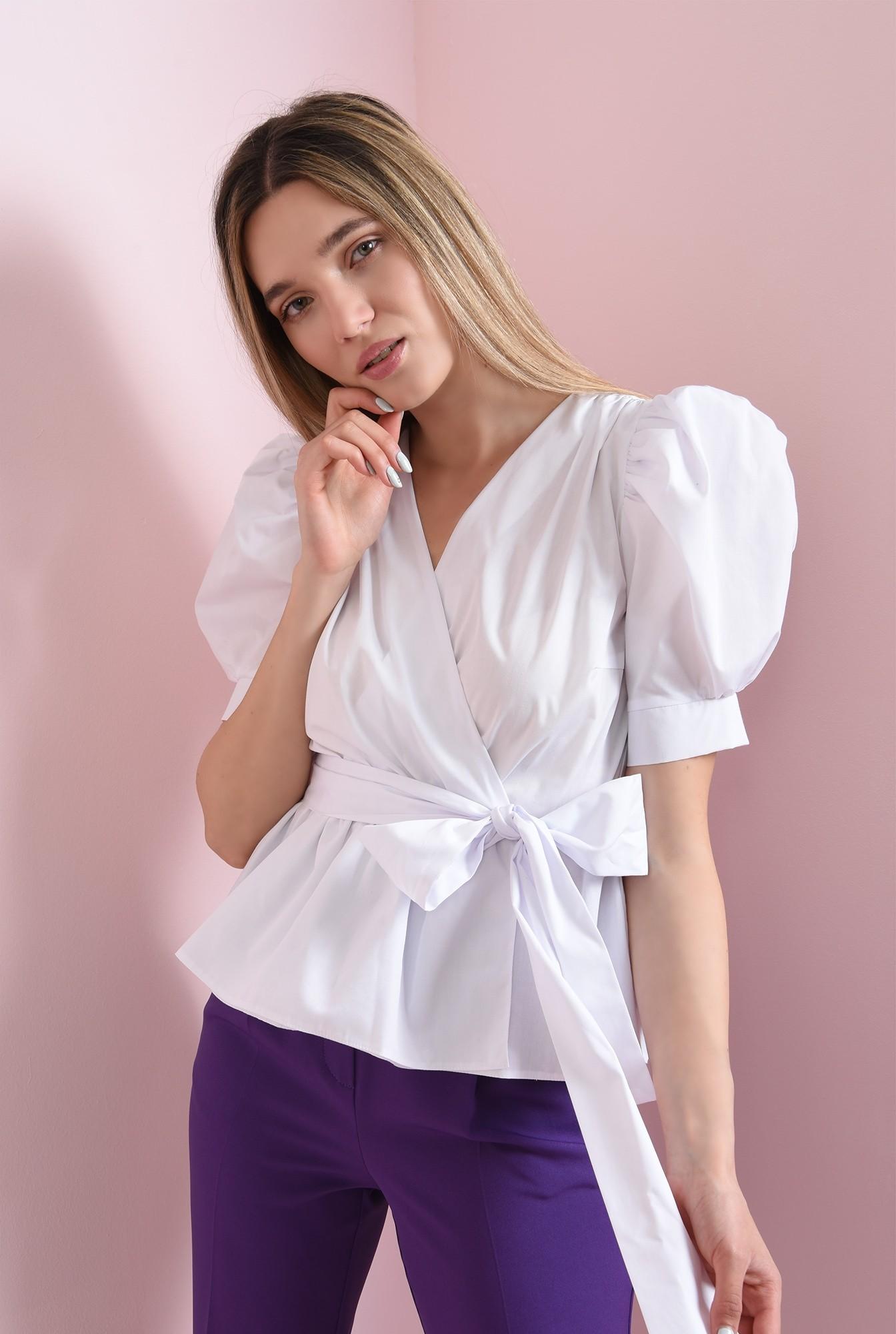 0 - 360 - bluza cu cordon, cu umeri accentuati