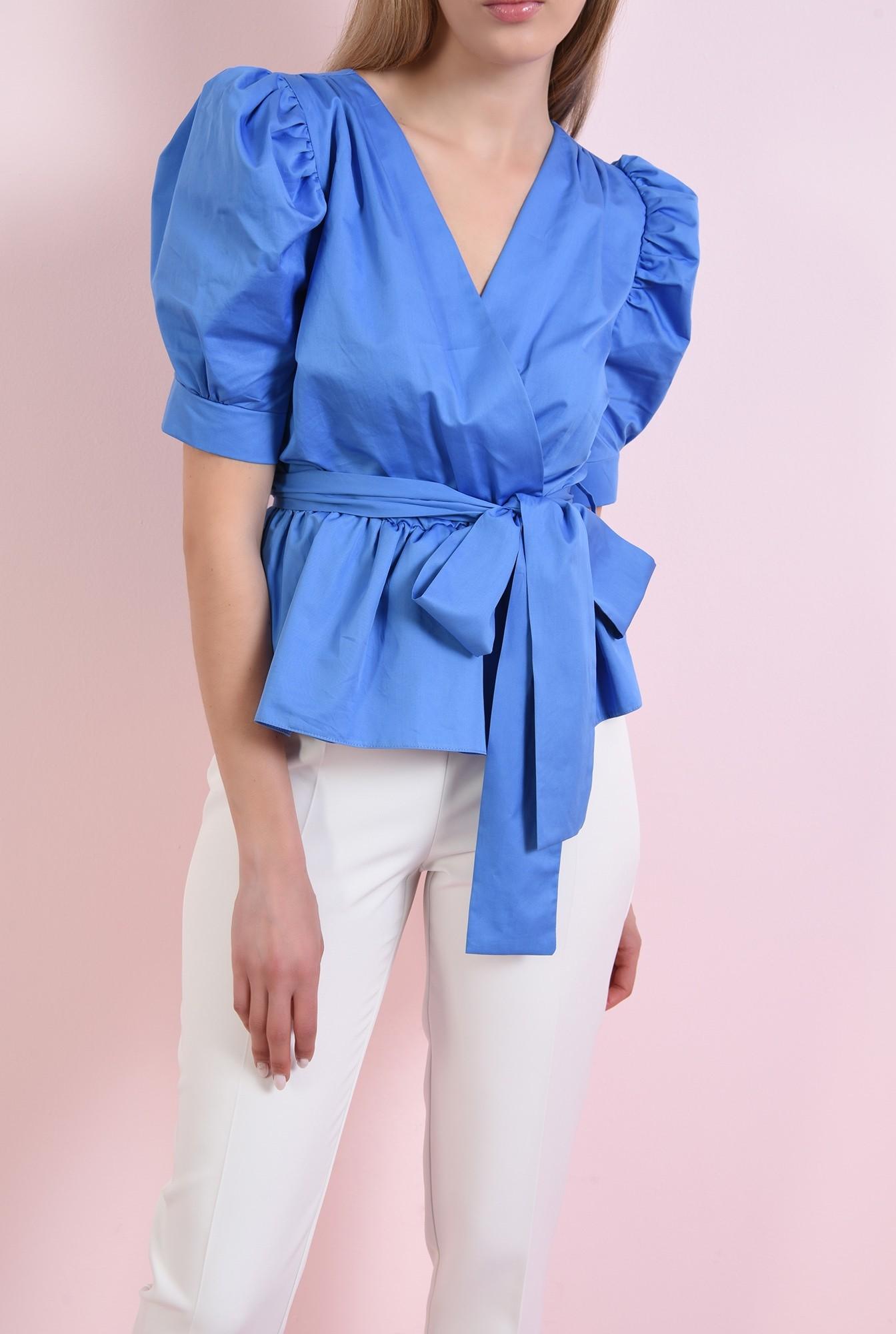 0 - 360 - bluza albastra, din bumbac