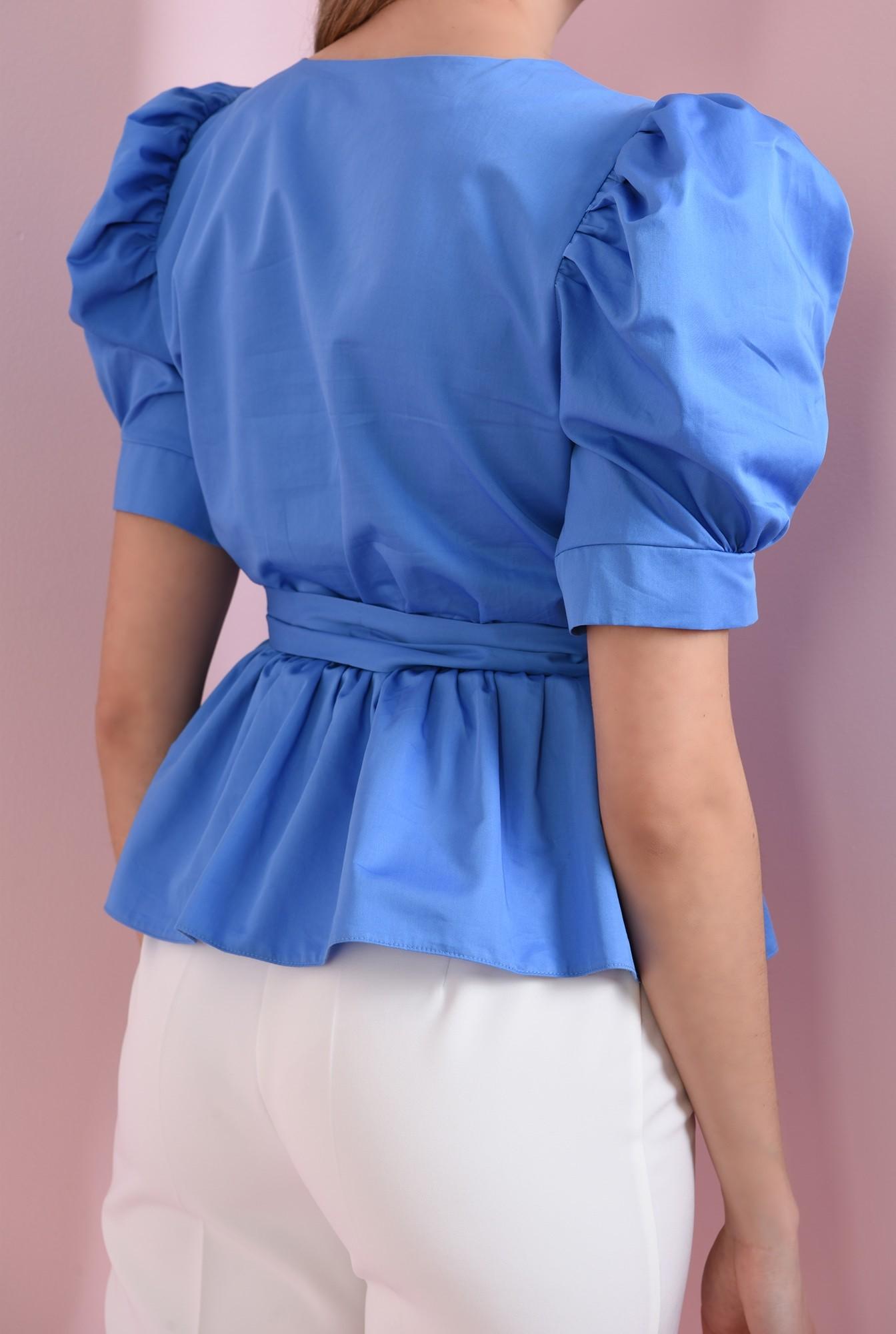1 - 360 - bluza albastra, din bumbac