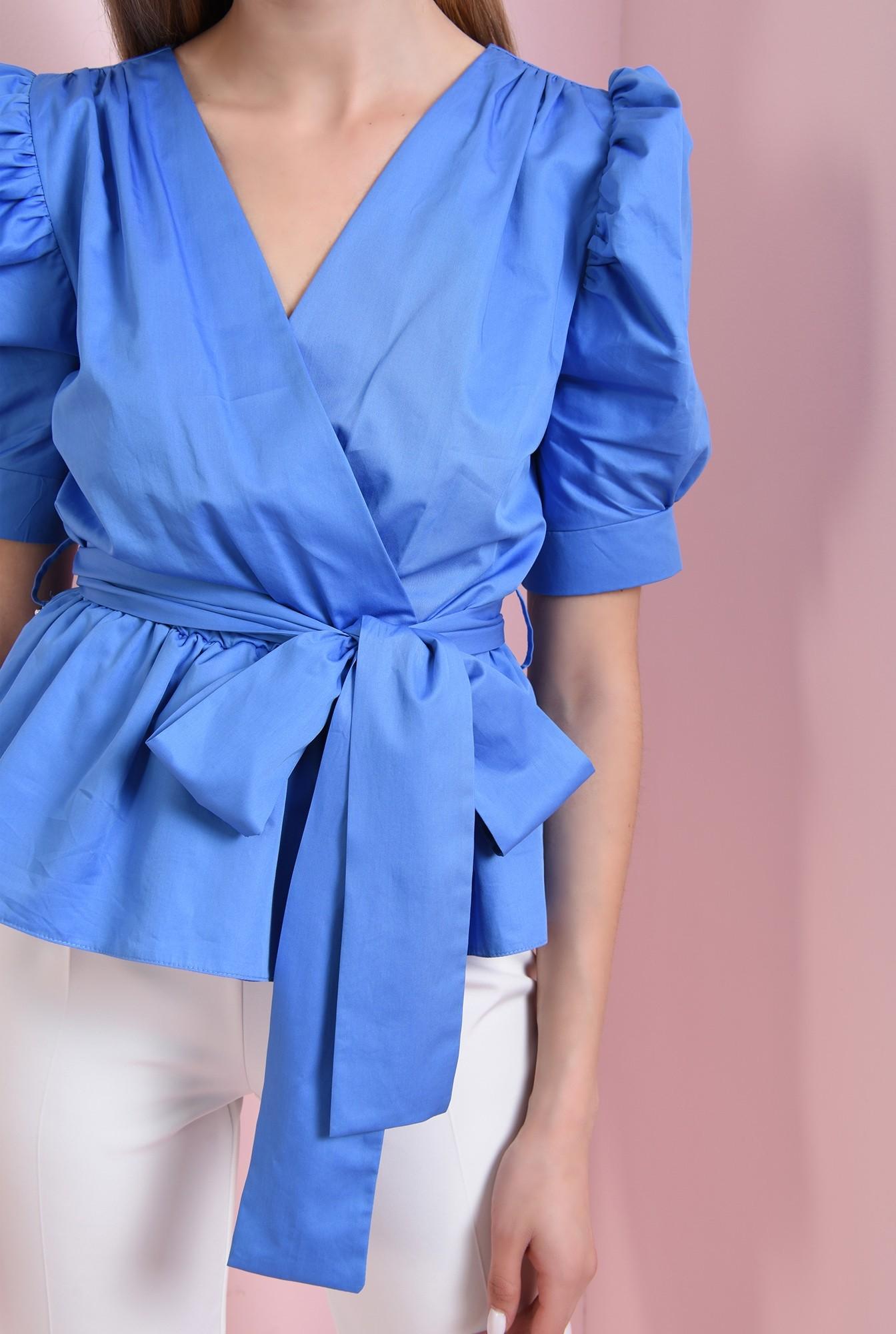 2 - 360 - bluza albastra, din bumbac