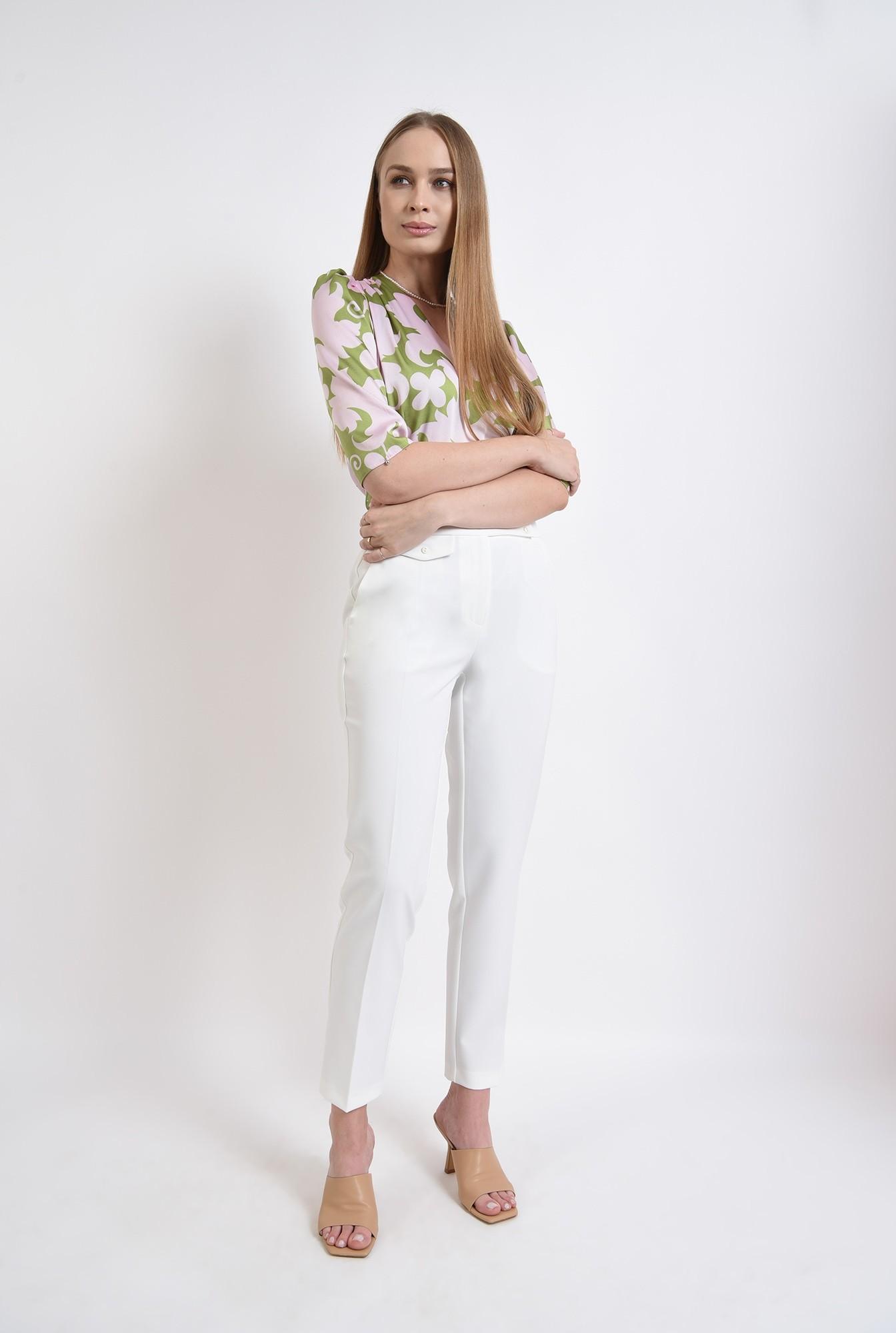 1 - bluza din satin, cu motive florale