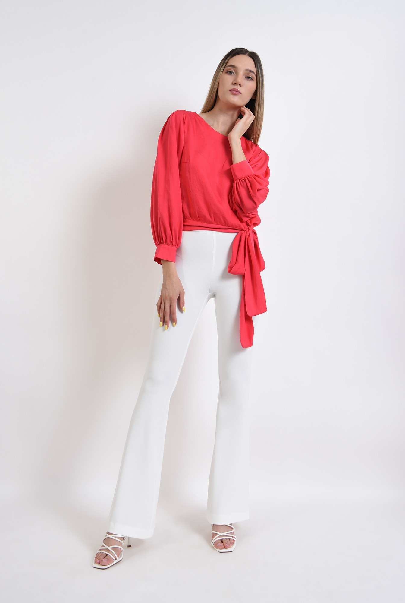 3 - bluza eleganta, poema, fucsia, satin