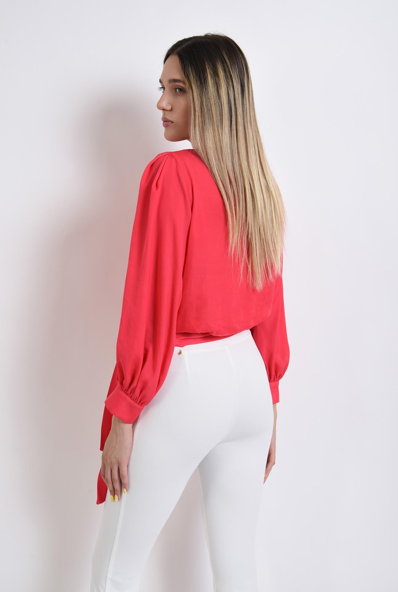 1 - bluza eleganta, poema, fucsia, satin