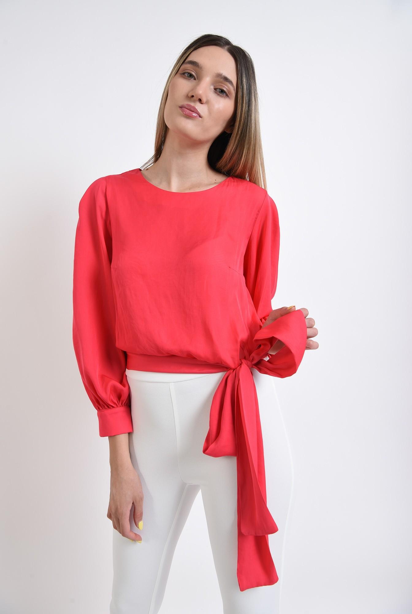 2 - bluza eleganta, poema, fucsia, satin