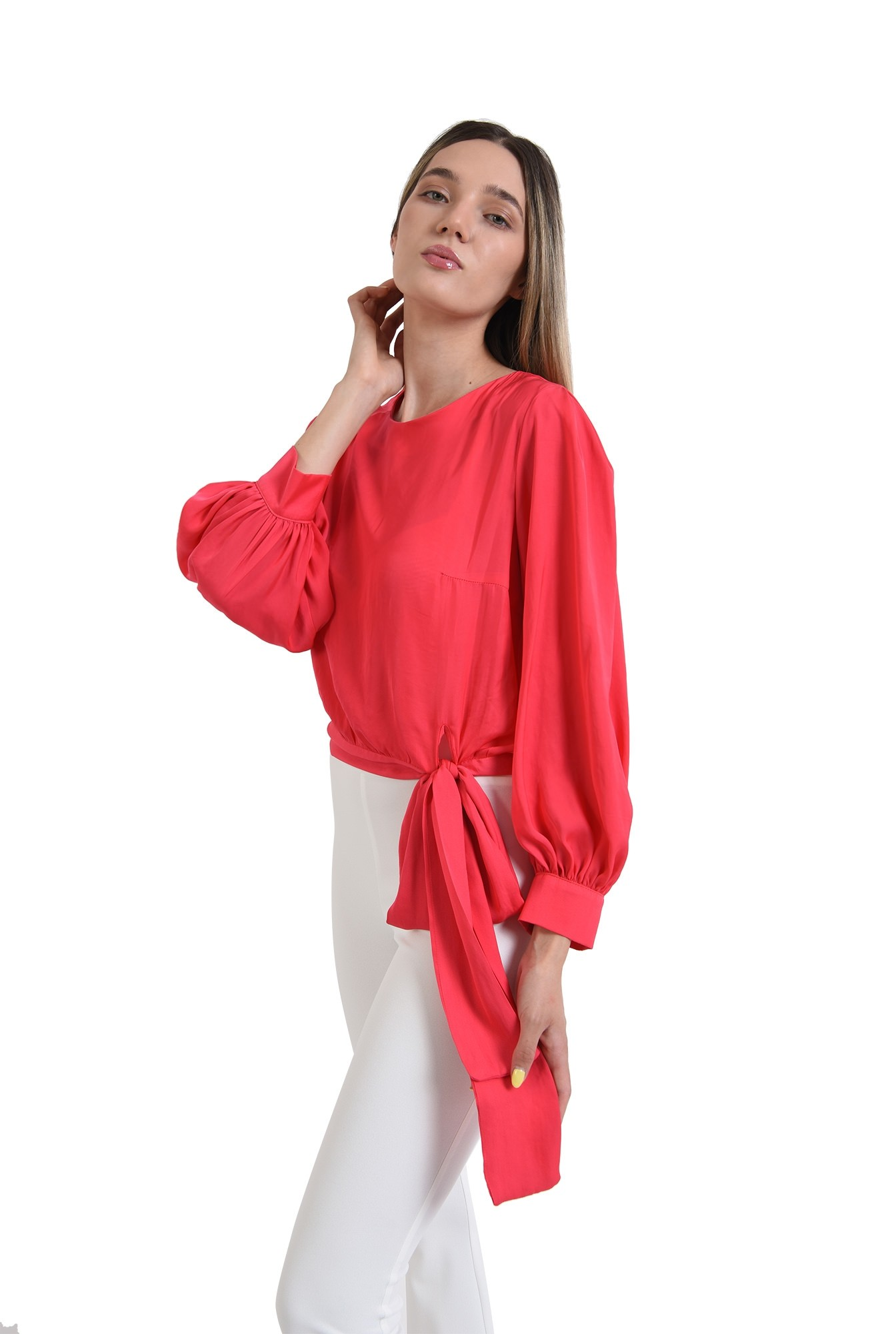 0 - bluza eleganta, poema, fucsia, satin