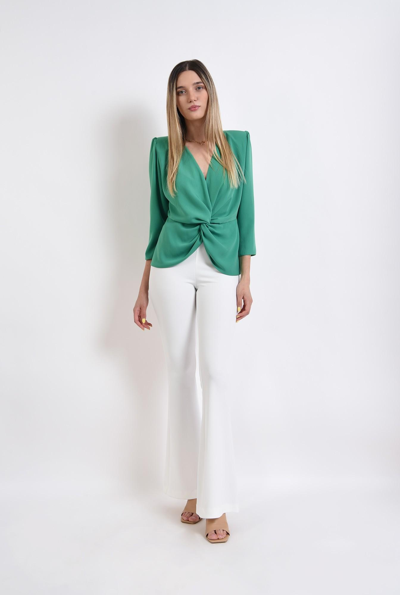 1 - bluza verde, cu drapaj, Poema