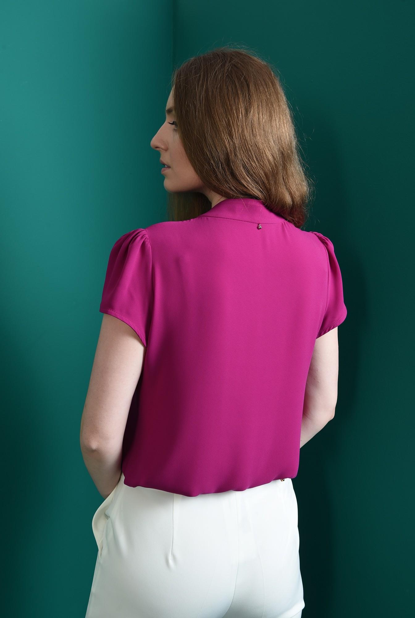 2 - bluza casual, fucsia, cu detaliu