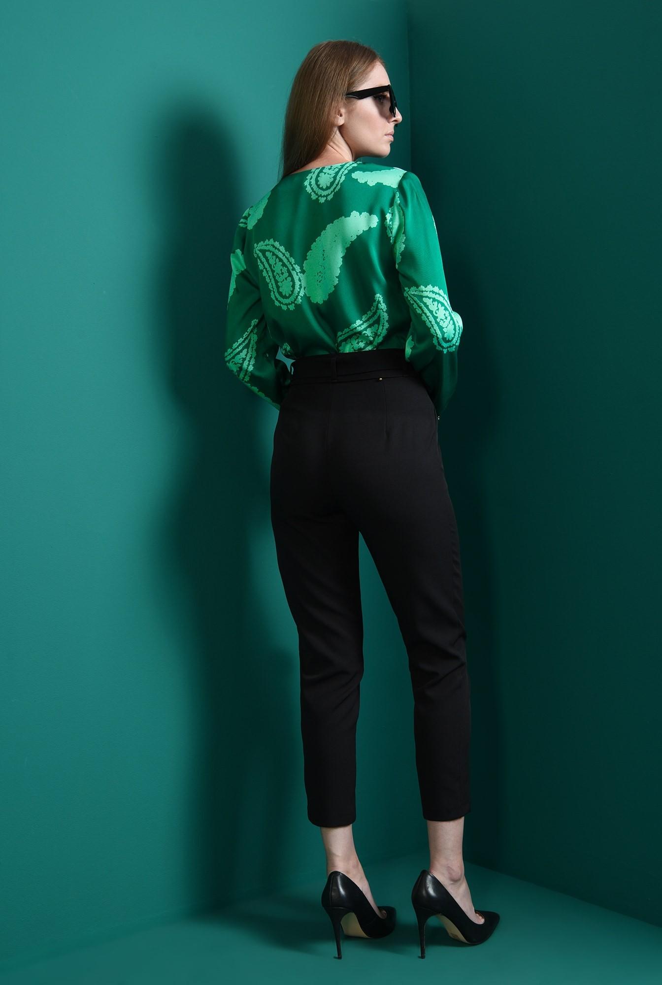 2 - bluza verde, casual, cu volan, Poema