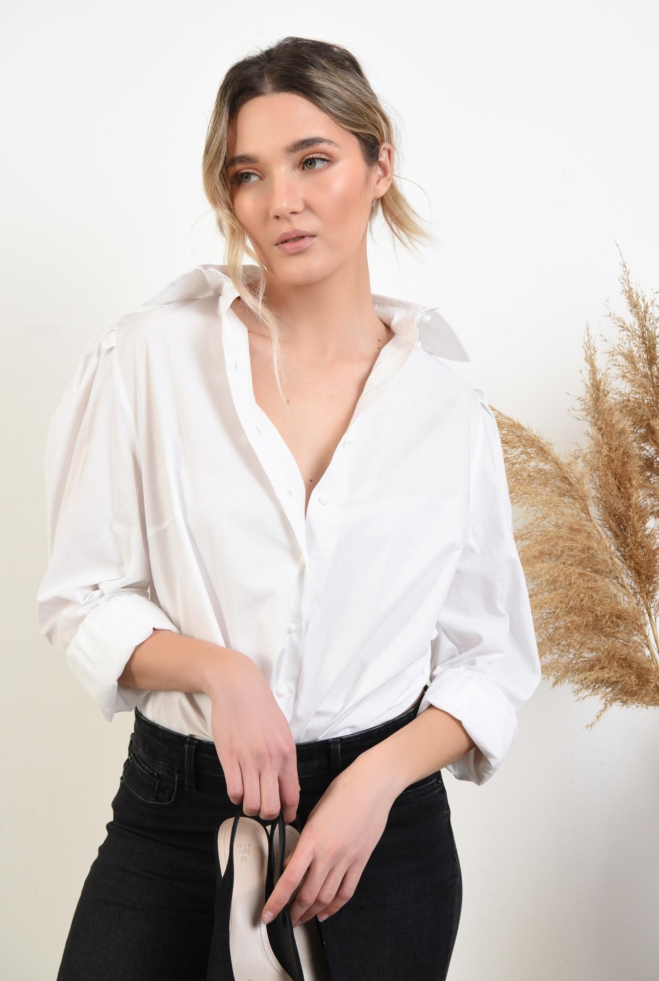 2 -  bluza eleganta, cu maneci bufante, cu funde, organza, bluza de ocazie