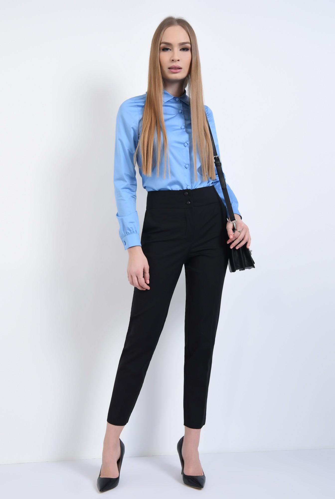 3 - Camasa casual, bleu, bumbac
