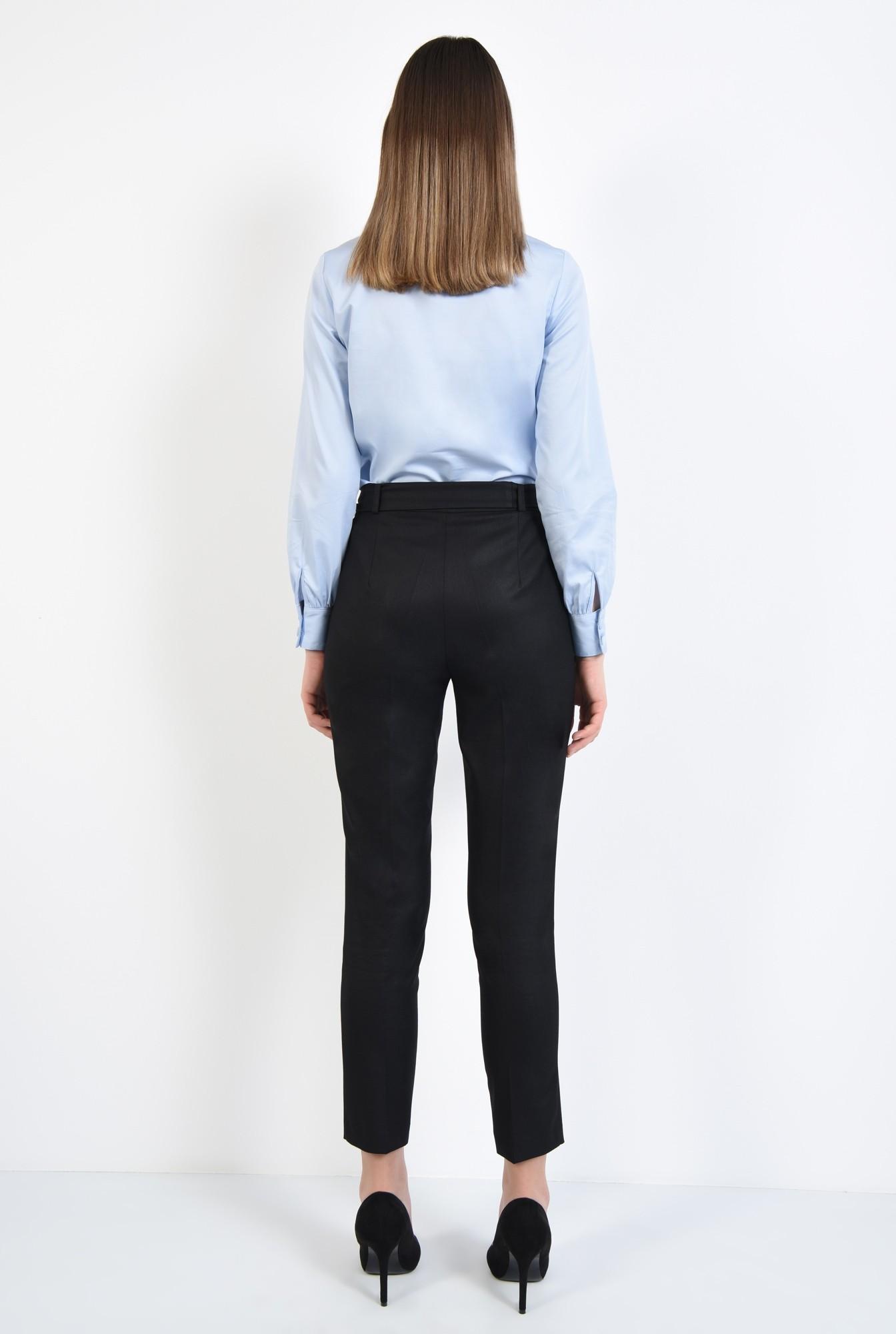 0 - 360 - camasa bleu, din bumbac, dreapta, office, croi clasic