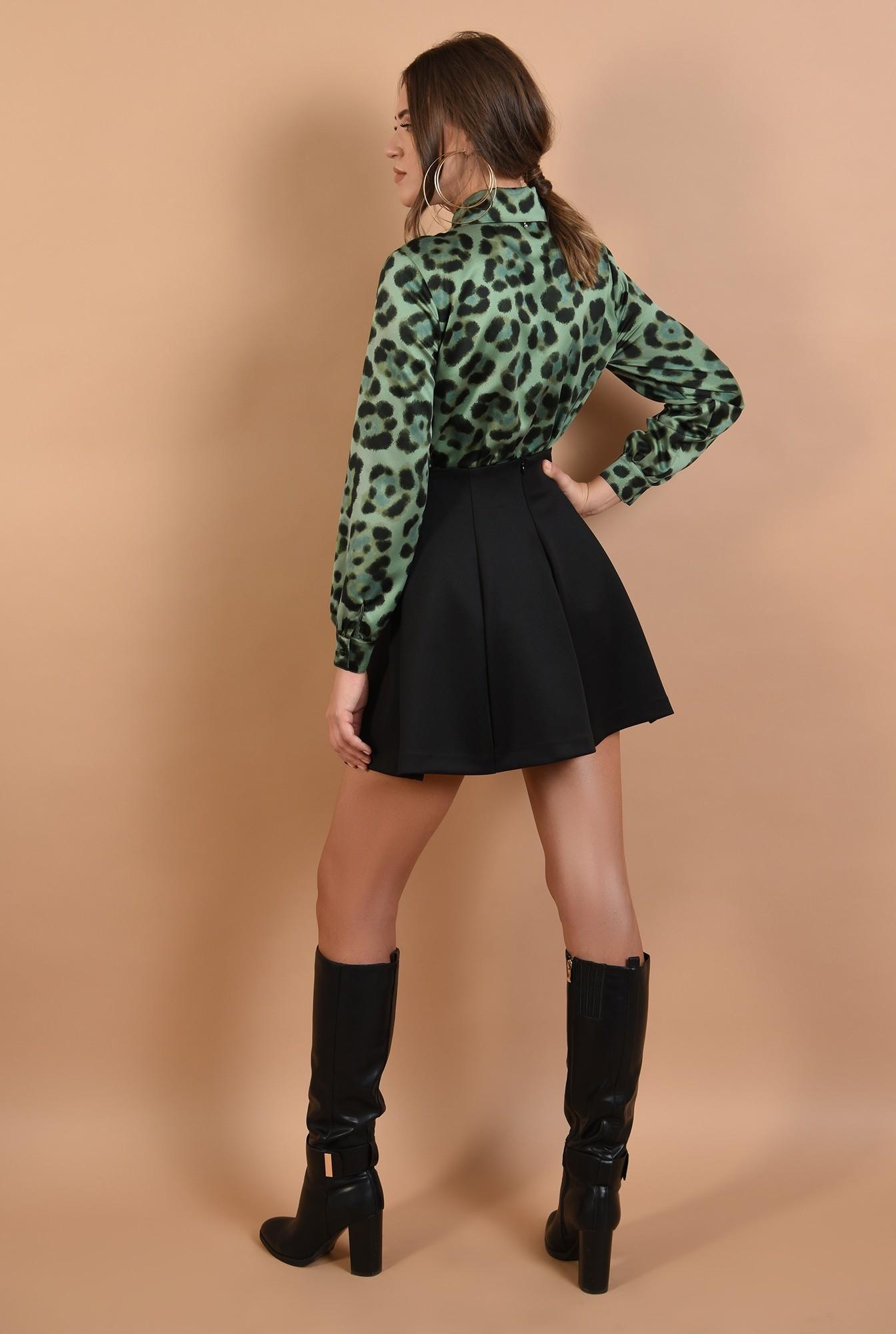 1 - camasa Poema, animal print, verde, maneci lungi, leopard