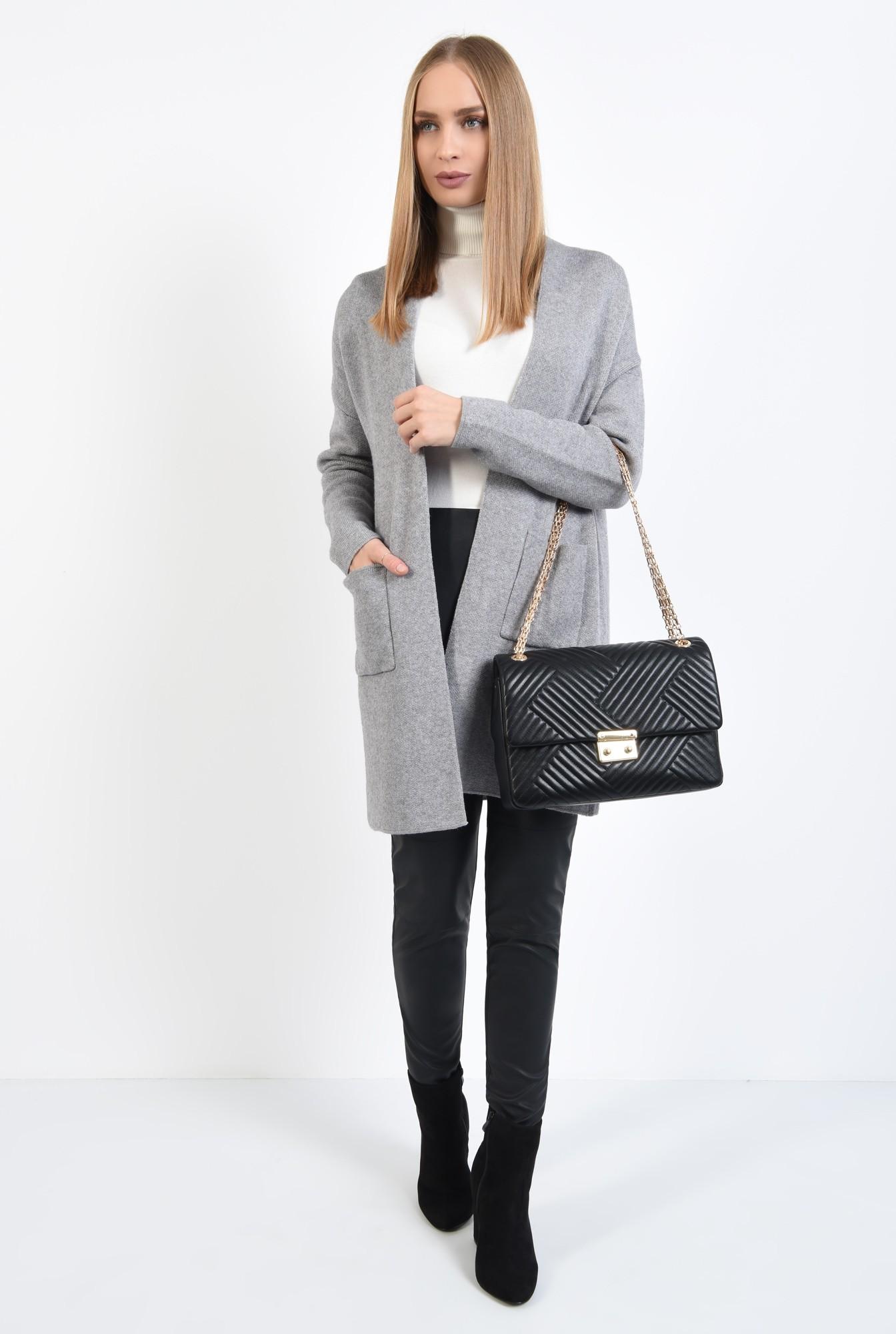 3 - pulover gri, jacheta de toamna, croi drept lejer