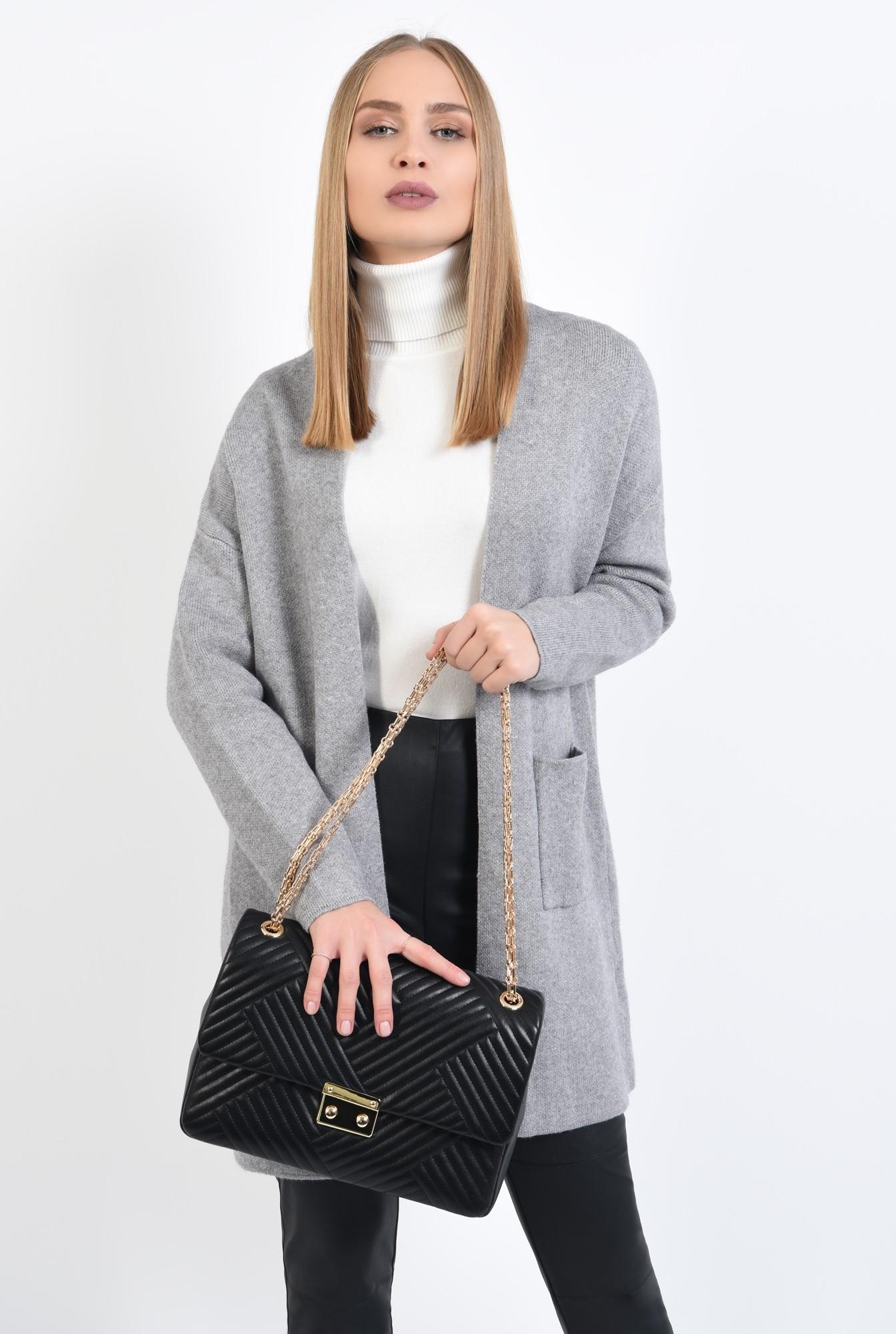 0 - pulover gri, jacheta de toamna, croi drept lejer