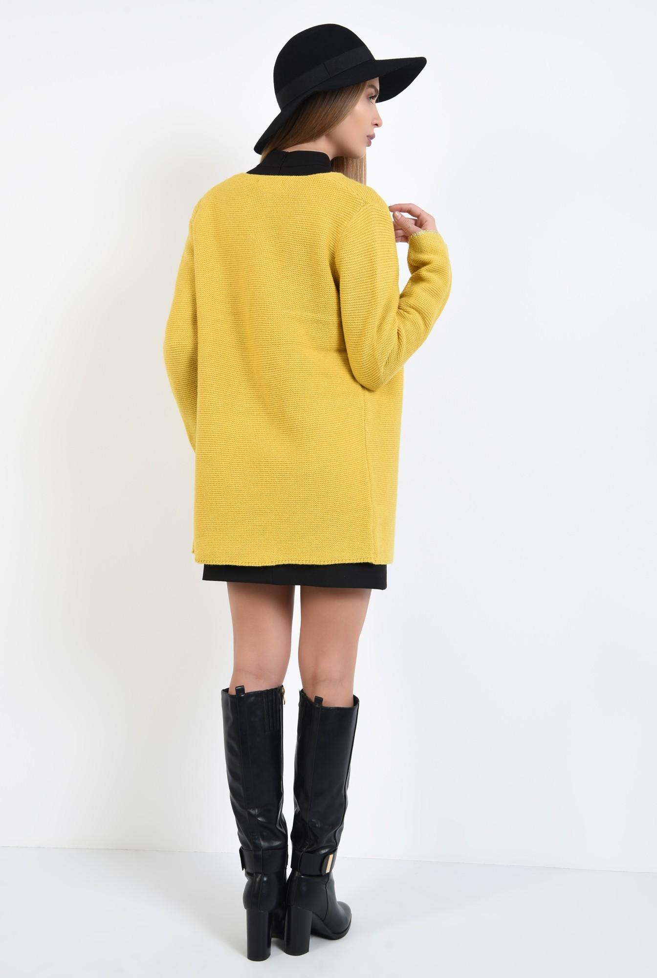 2 - 360 - cardigan midi, croi drept lejer, tricotaje, jacheta de toamna
