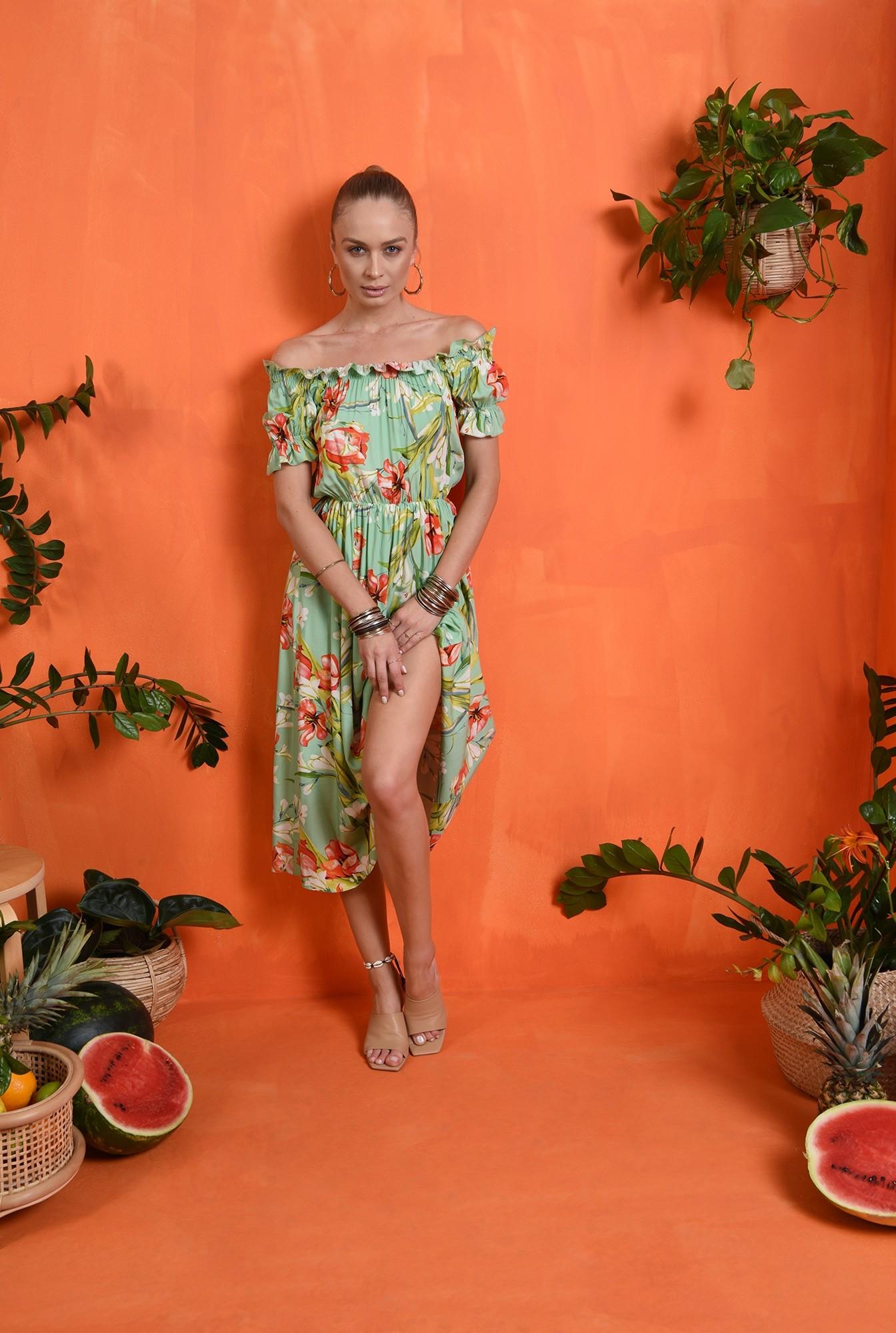 1 - rochie casual, de vara, cu print