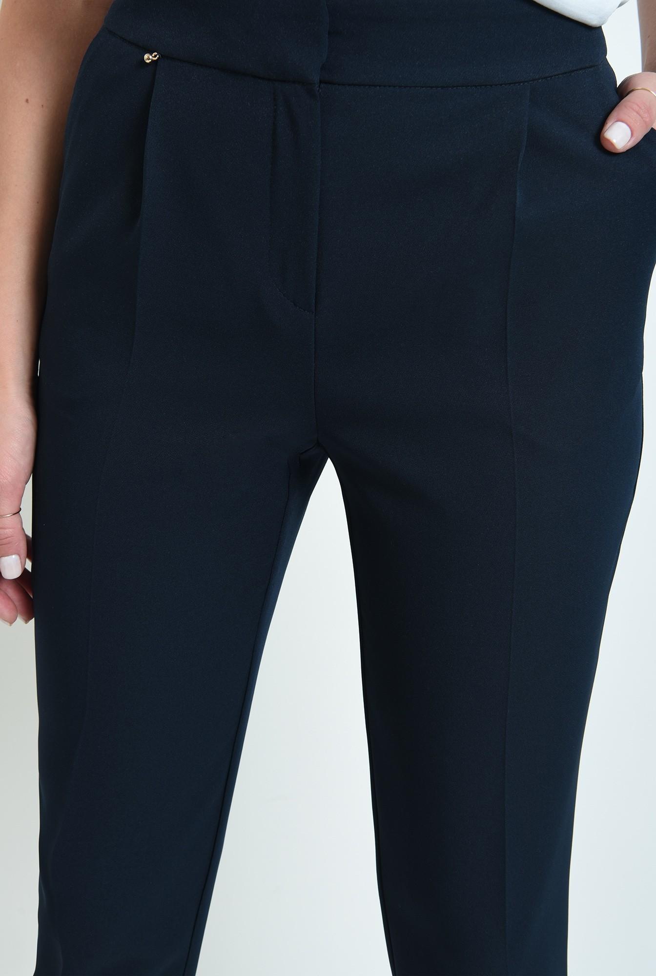 2 - pantaloni lungi, casual, cu pliuri, cu buzunare