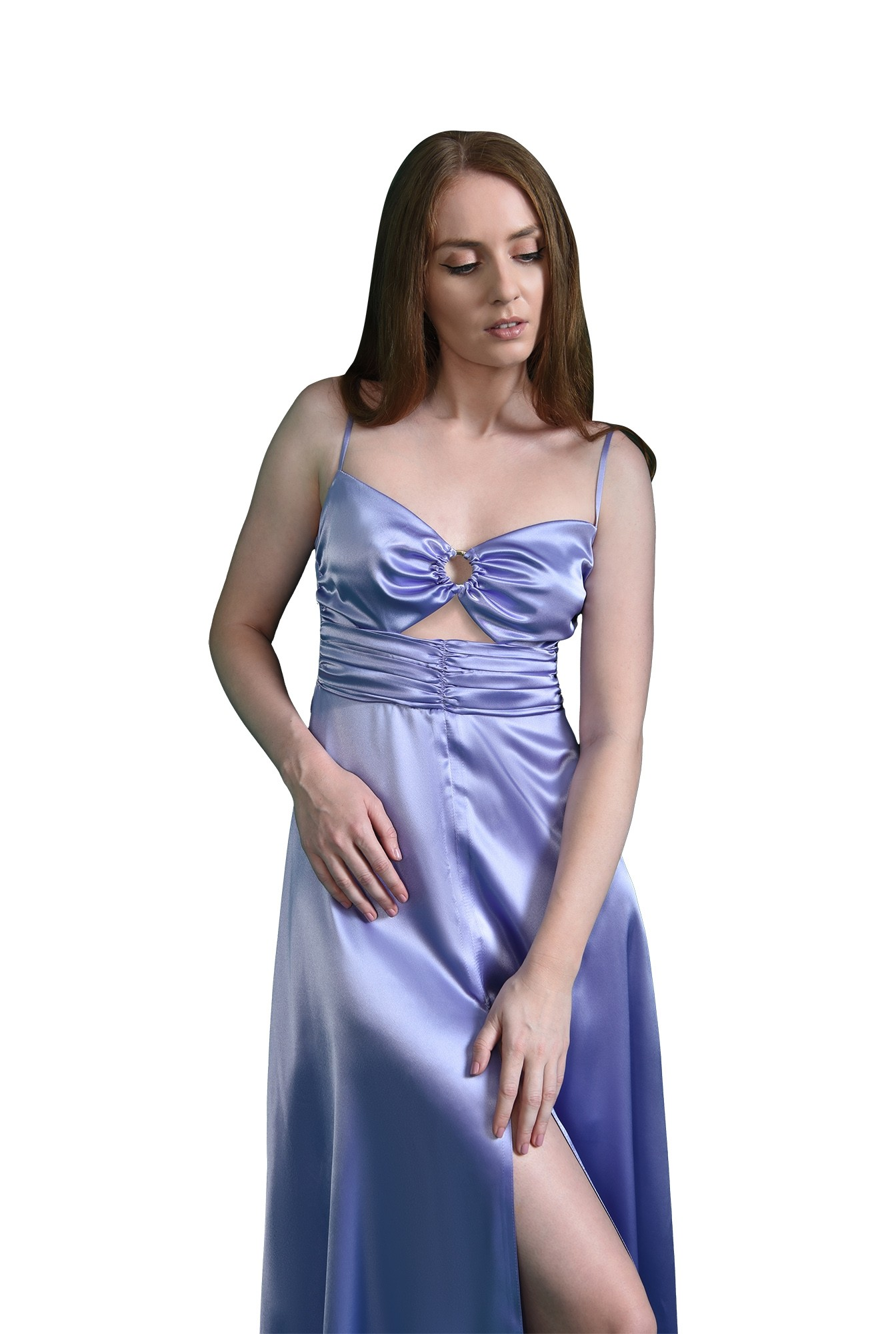 3 - rochie eleganta, lila, fronsata, Poema