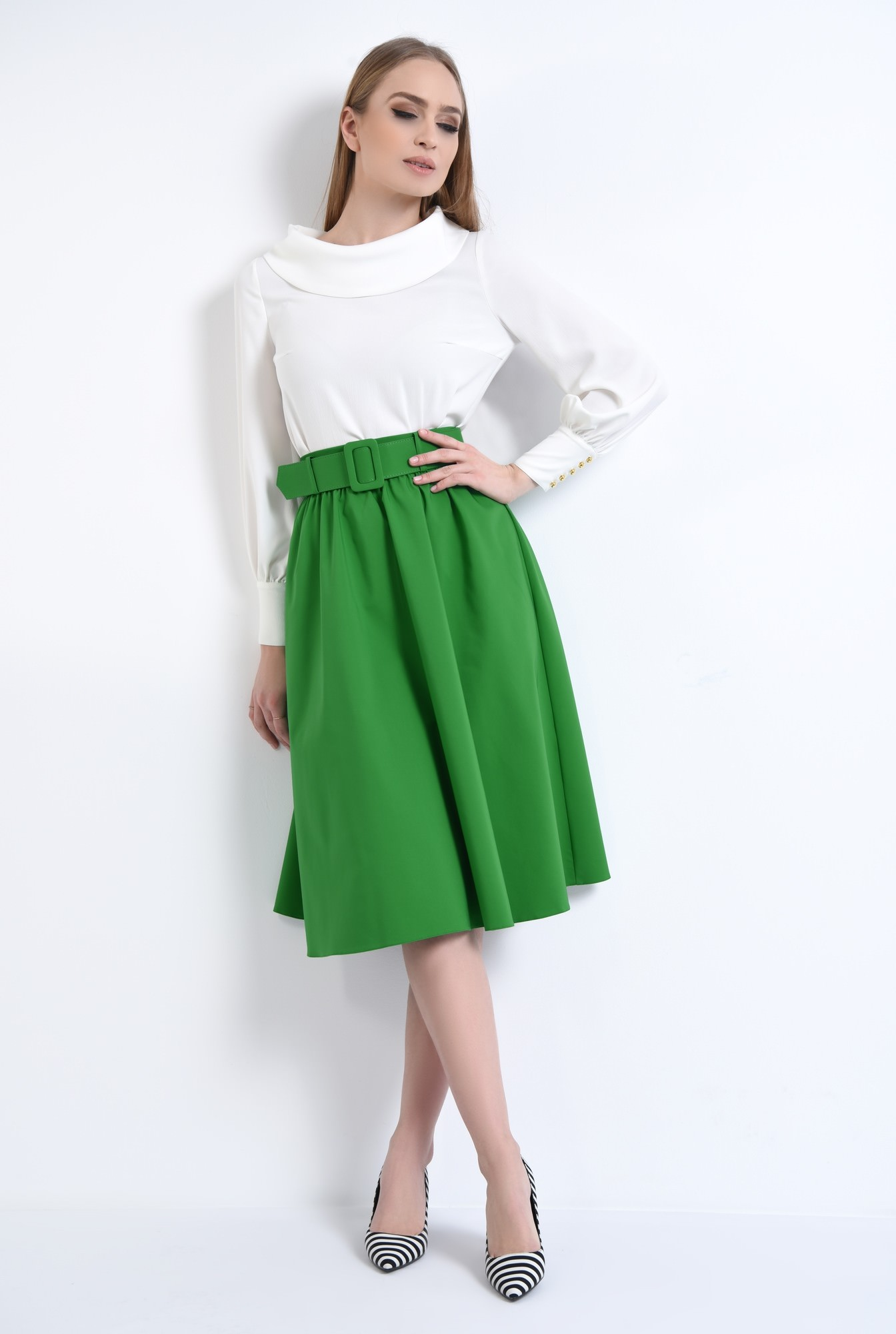 3 - Fusta casual, verde