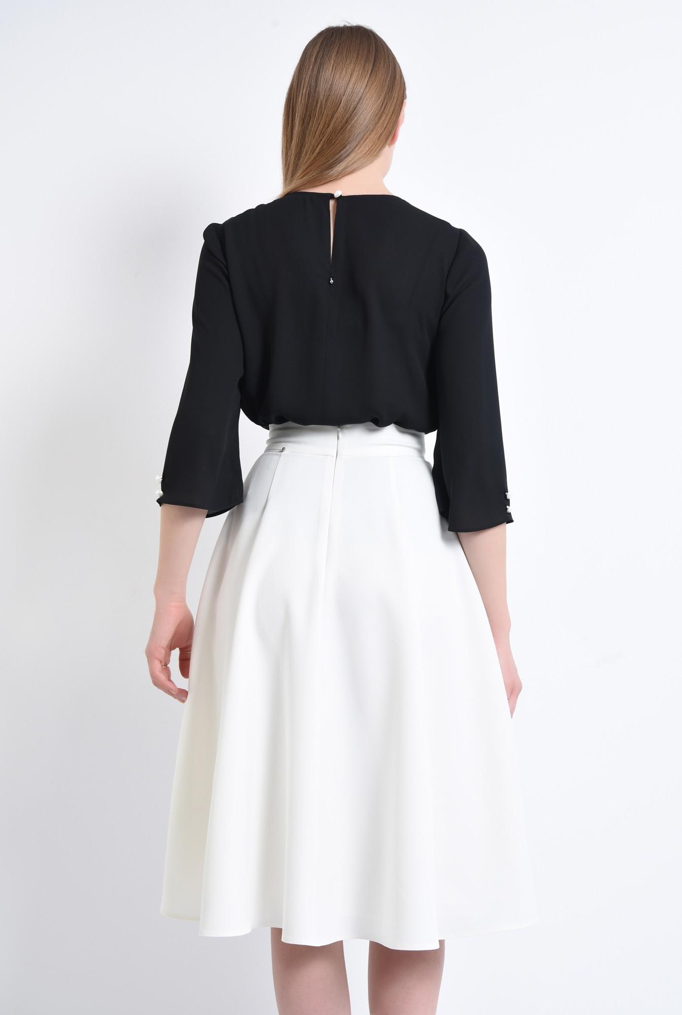 1 - Fusta eleganta, funda, contrast alb-negru