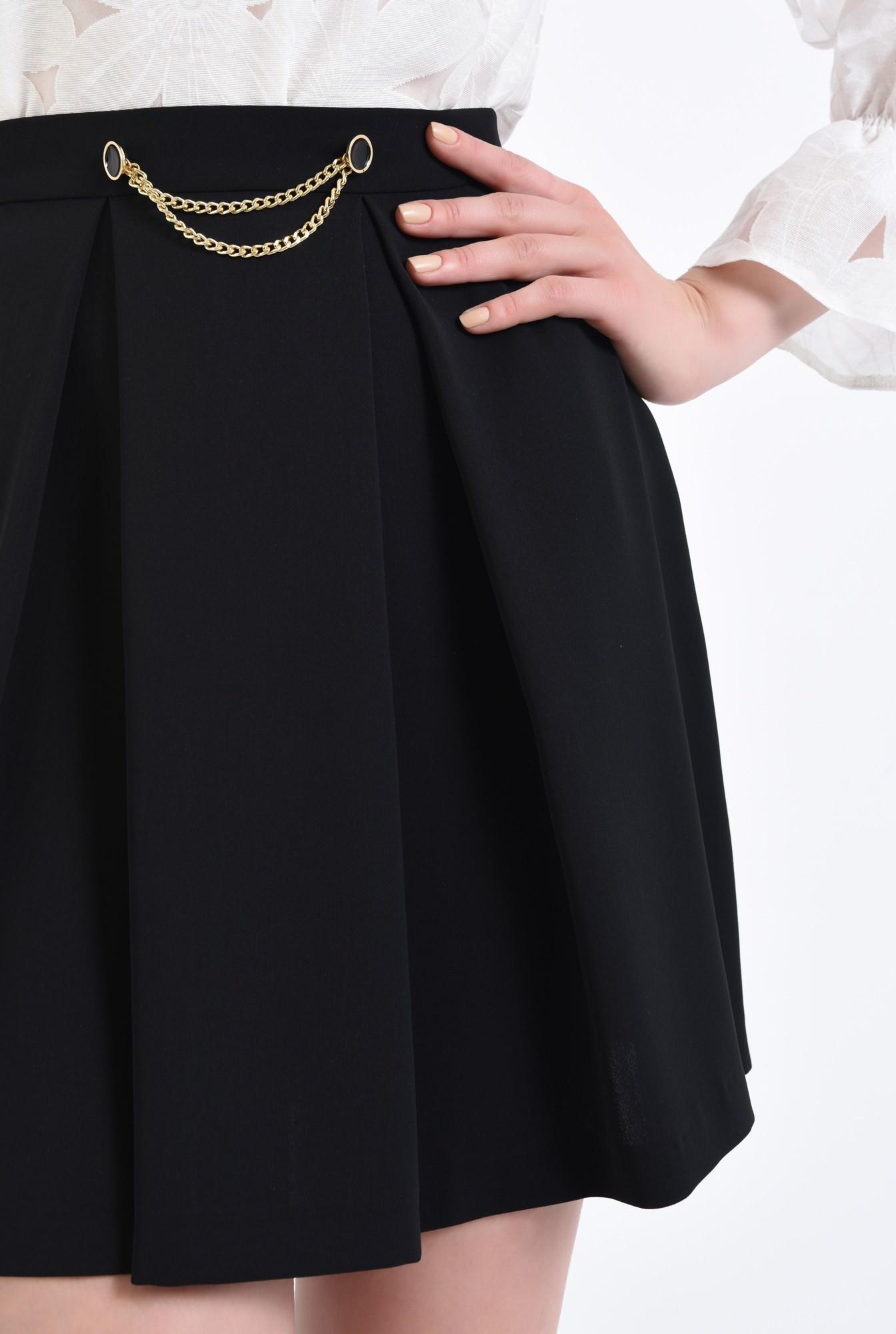 2 - Fusta eleganta, neagra, scurta, fermoar