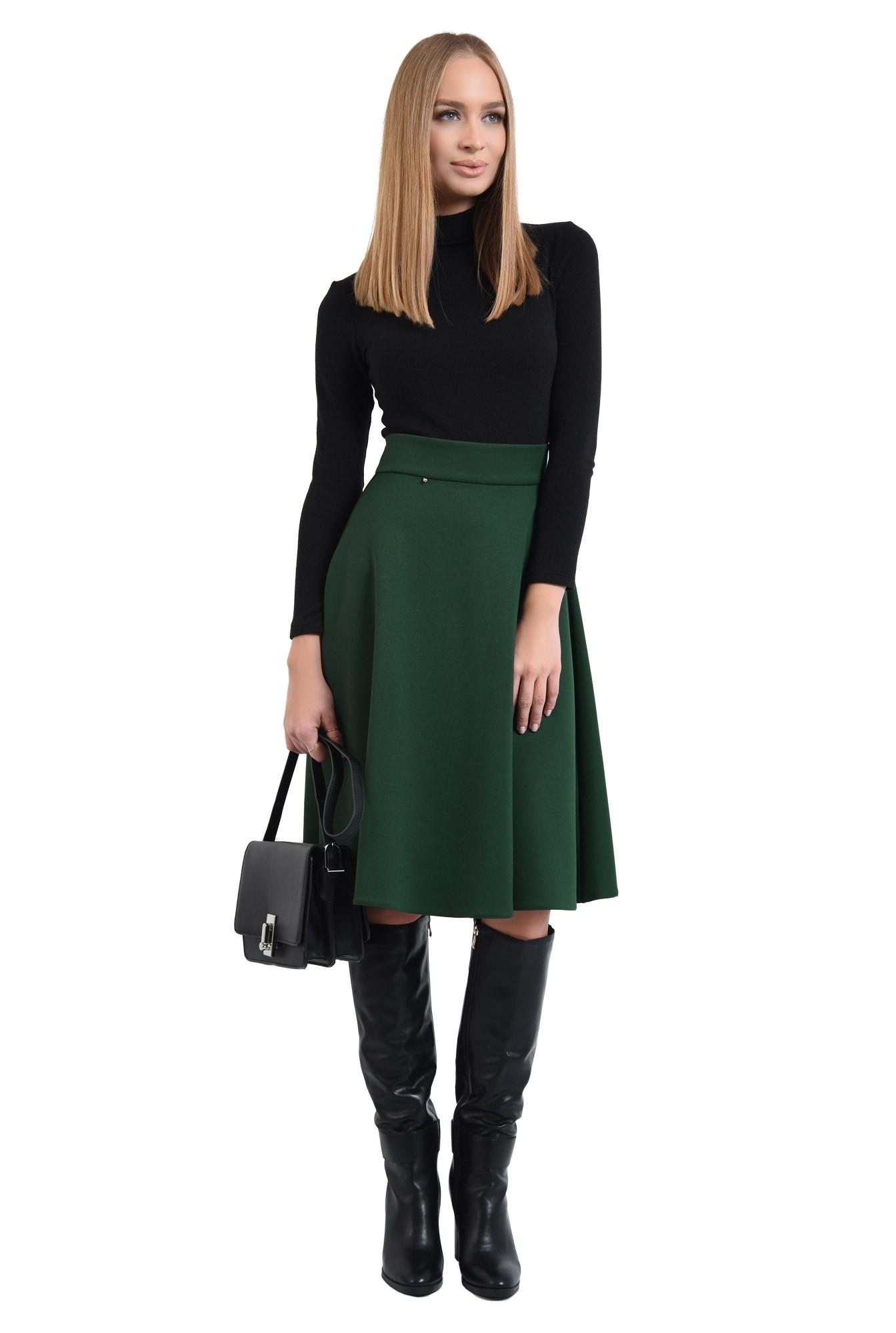 0 - fusta verde, clos, midi, tesatura elastica