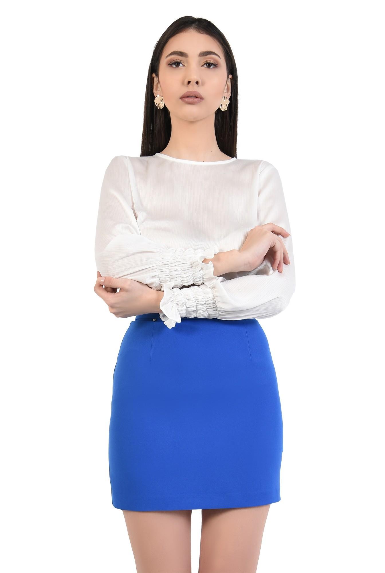 1 - fusta de zi, talie cu betelie, lungime mini, fuste online