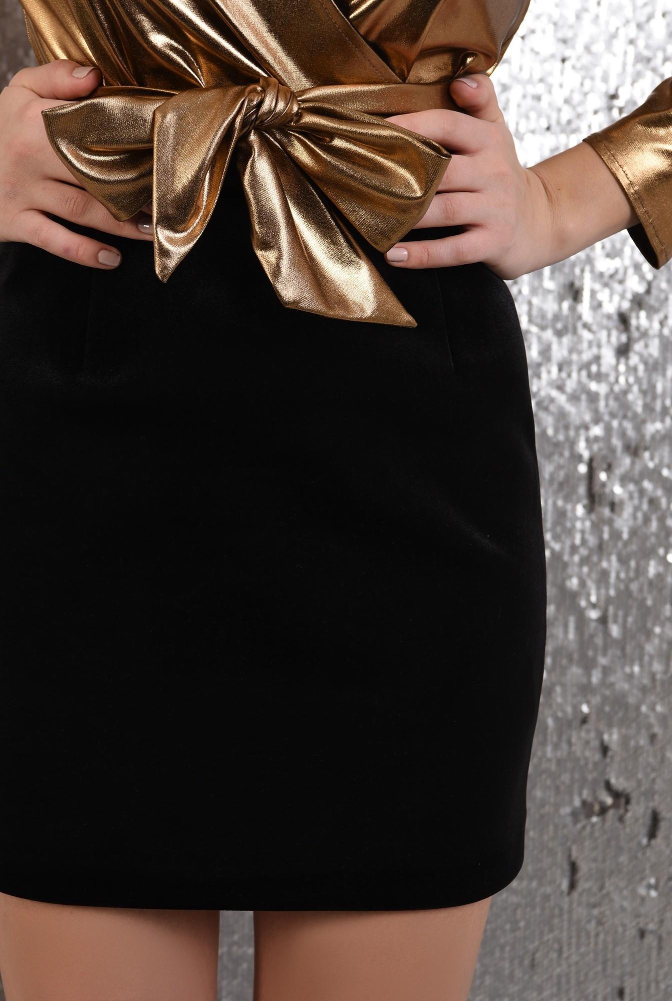 2 -  fusta eleganta, Poema, din catifea, talie inalta, mini