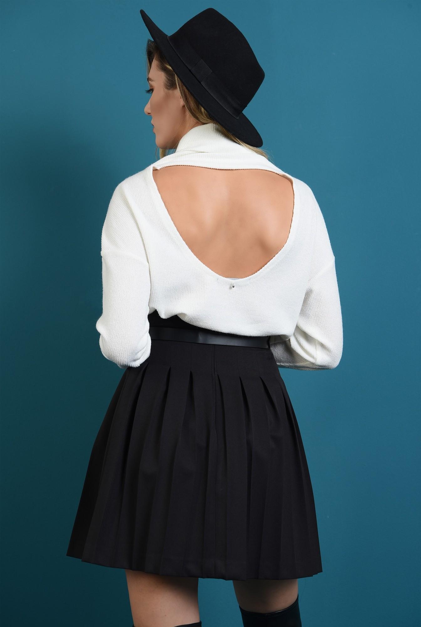1 - fusta neagra,mini, cu pliuri, cu talie inalta