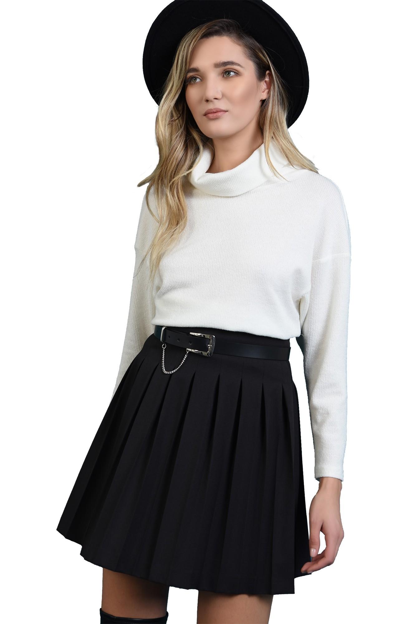 3 - fusta neagra,mini, cu pliuri, cu talie inalta