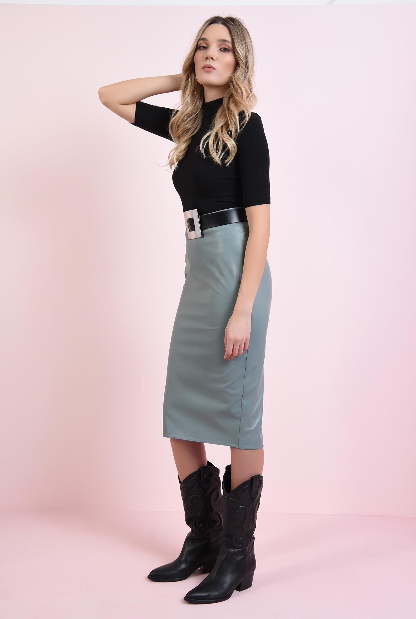 0 - fusta casual, cu lungime medie